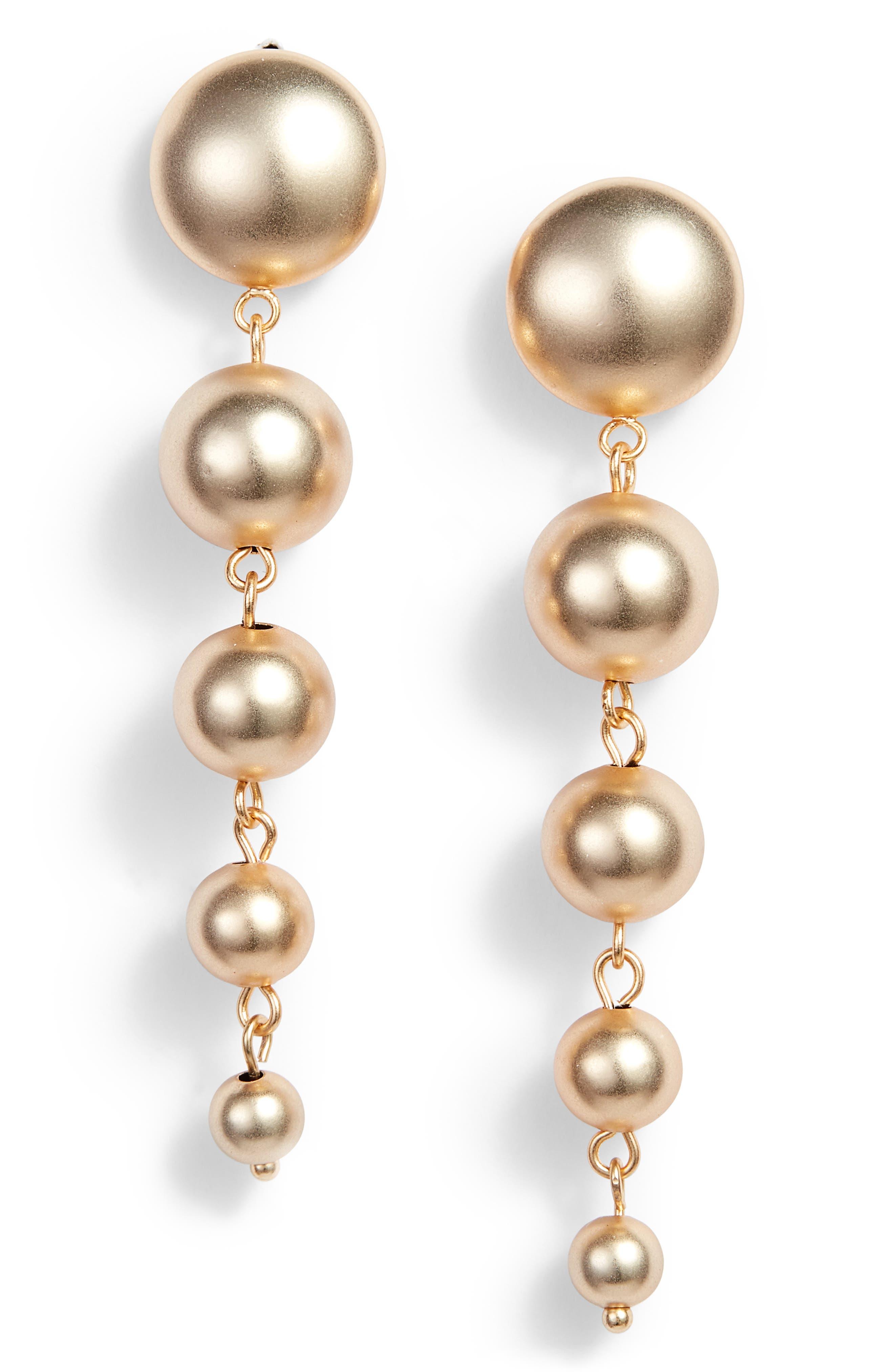 5-Sphere Graduated Drop Earrings,                             Main thumbnail 2, color,