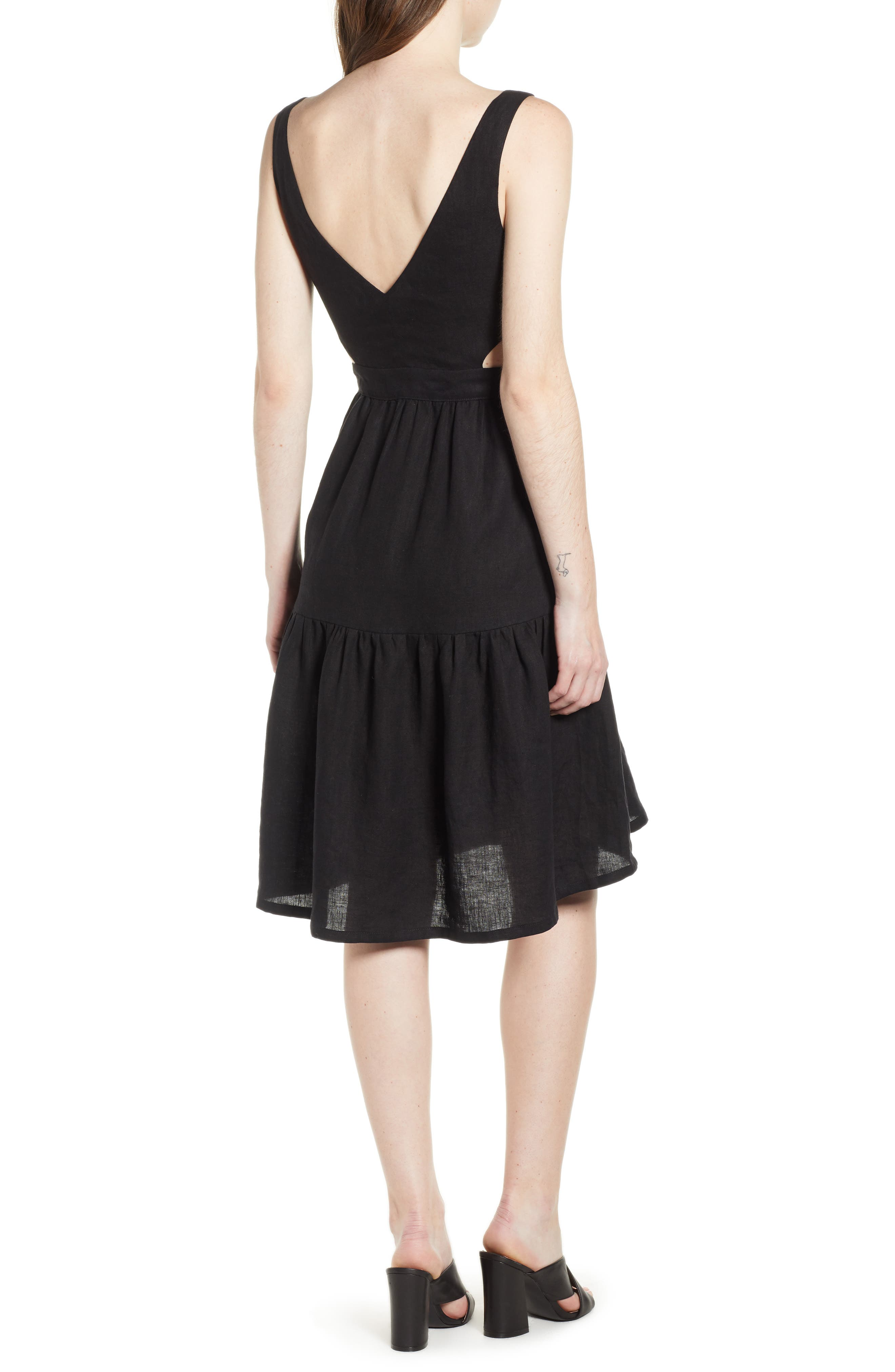 Palizzi Cutout Tie Front Dress,                             Alternate thumbnail 2, color,                             001