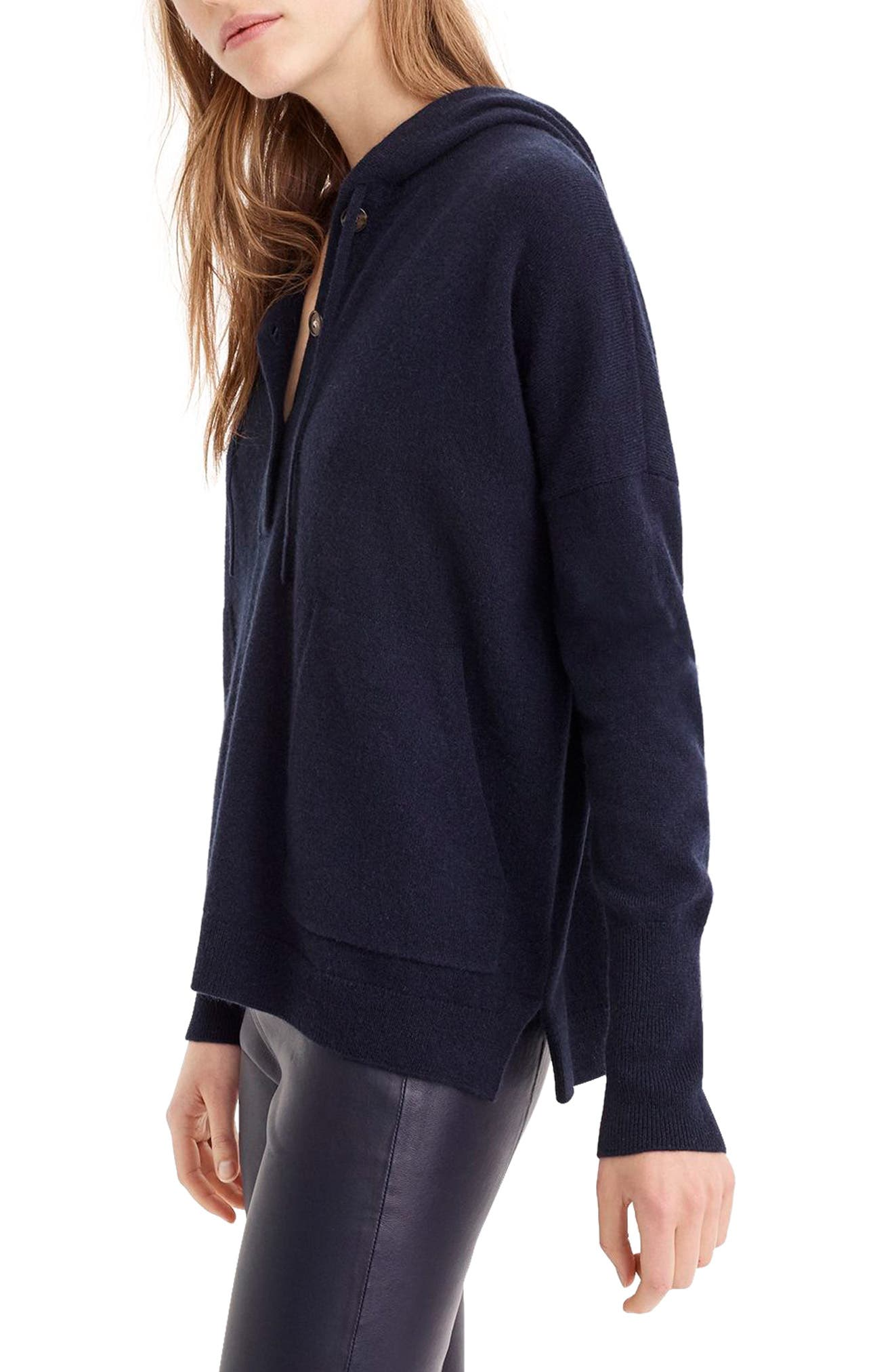 Everyday Cashmere Hoodie Sweater,                             Alternate thumbnail 3, color,                             460