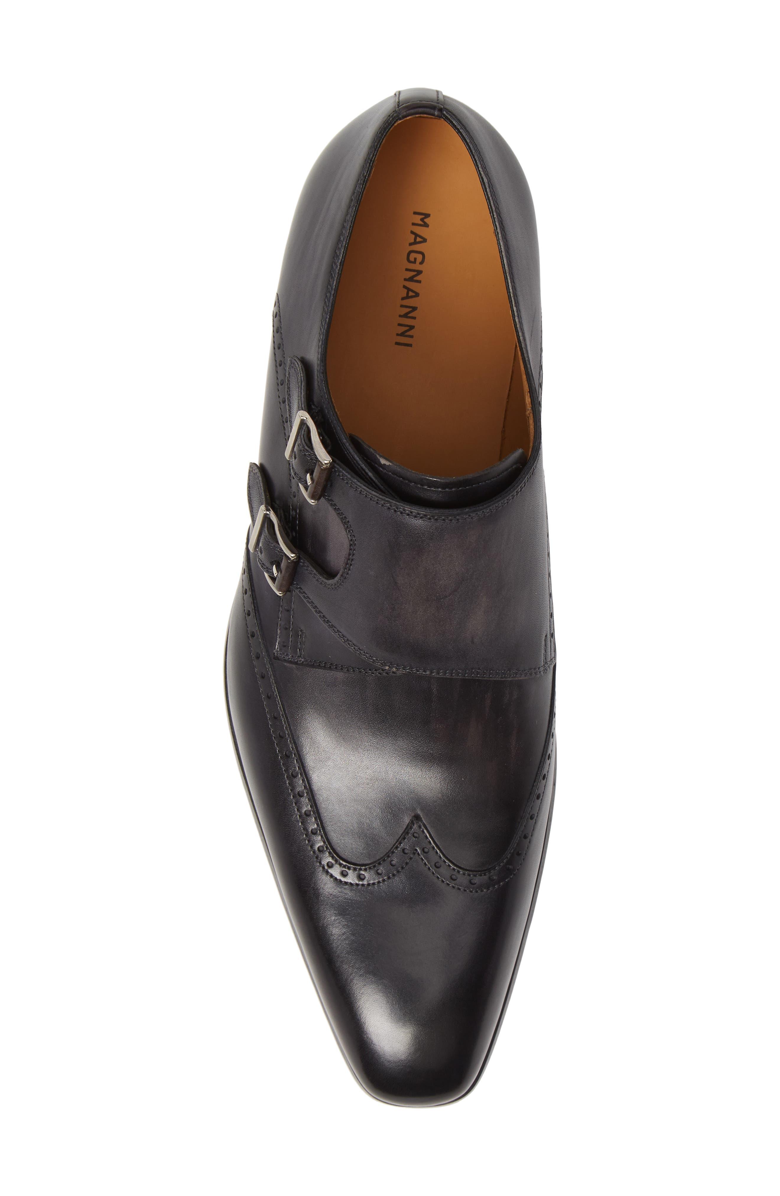 Dixon Wingtip Double Strap Monk Shoe,                             Alternate thumbnail 5, color,                             GREY