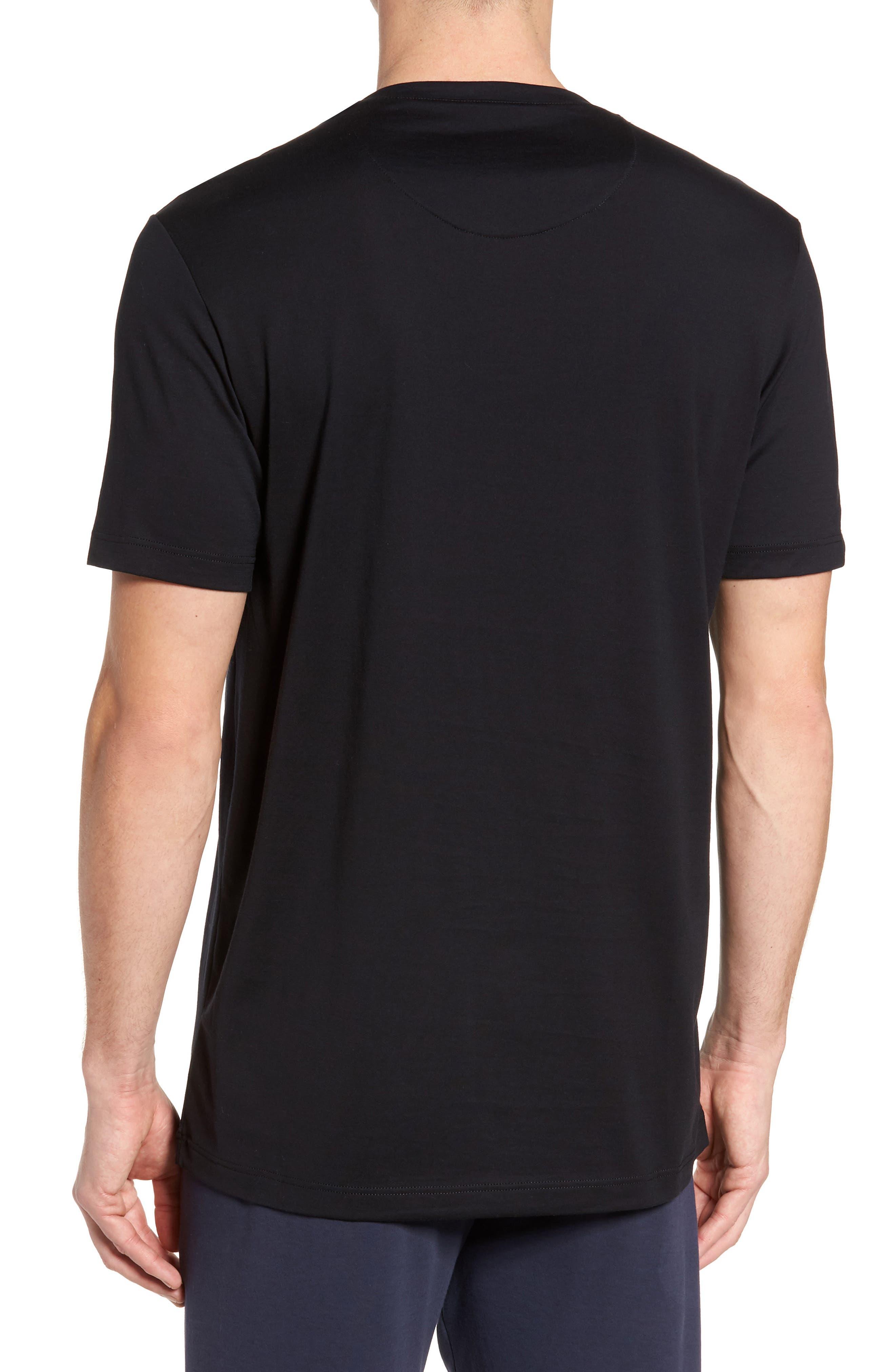 Night & Day Crewneck T-Shirt,                             Alternate thumbnail 2, color,                             BLACK