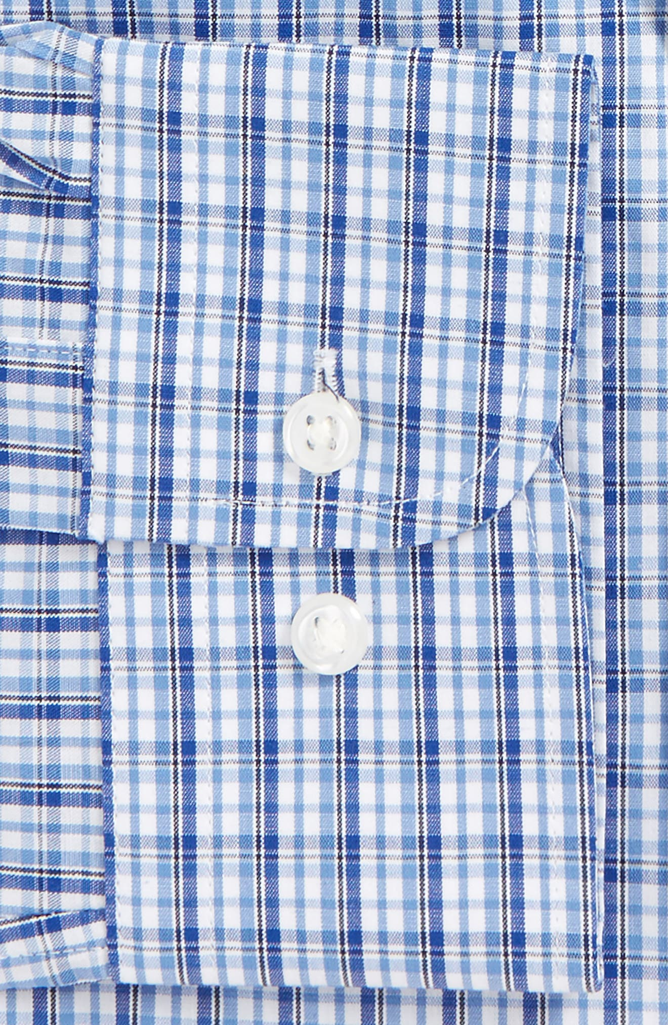 Tech-Smart Traditional Fit Stretch Plaid Dress Shirt,                             Alternate thumbnail 4, color,                             420