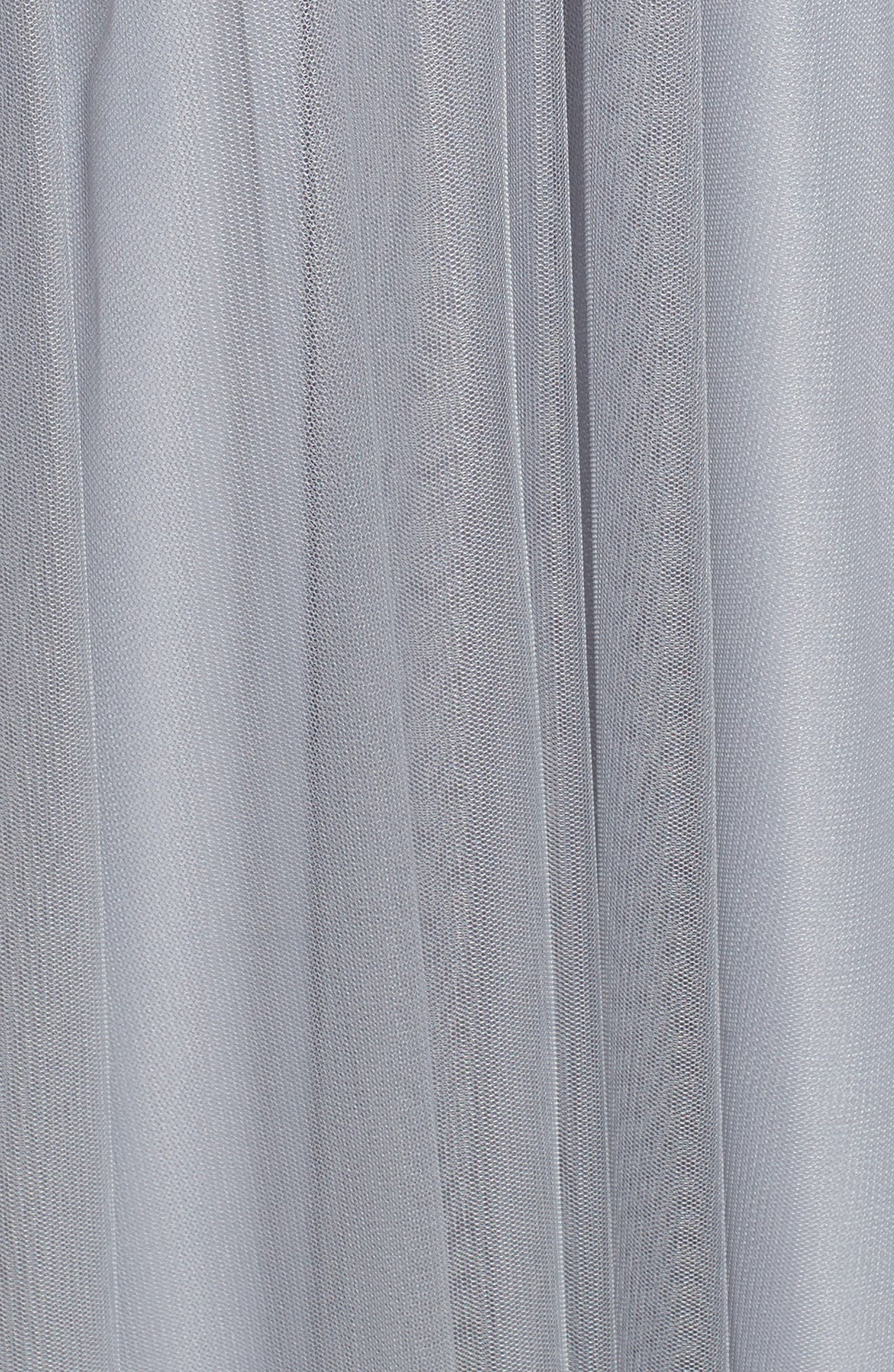 English Net Gown,                             Alternate thumbnail 5, color,                             PEWTER