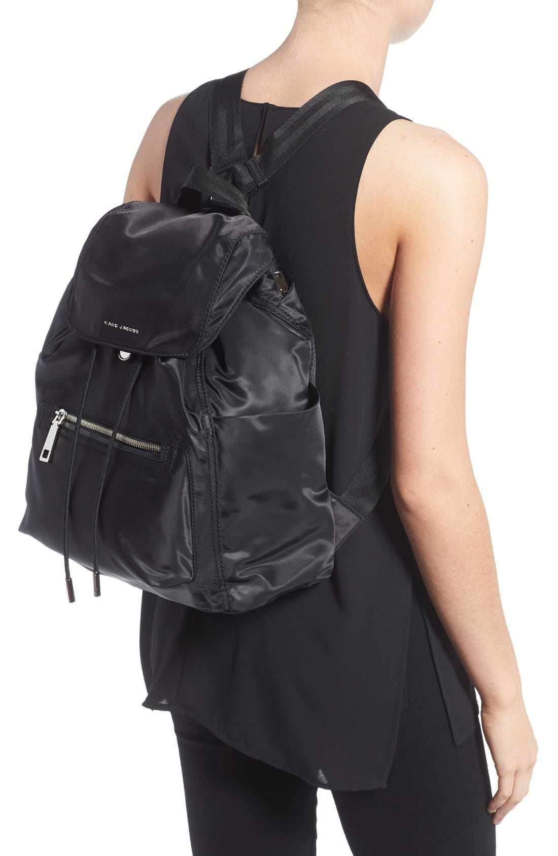 MARC JACOBS,                             'Easy' Backpack,                             Alternate thumbnail 6, color,                             001