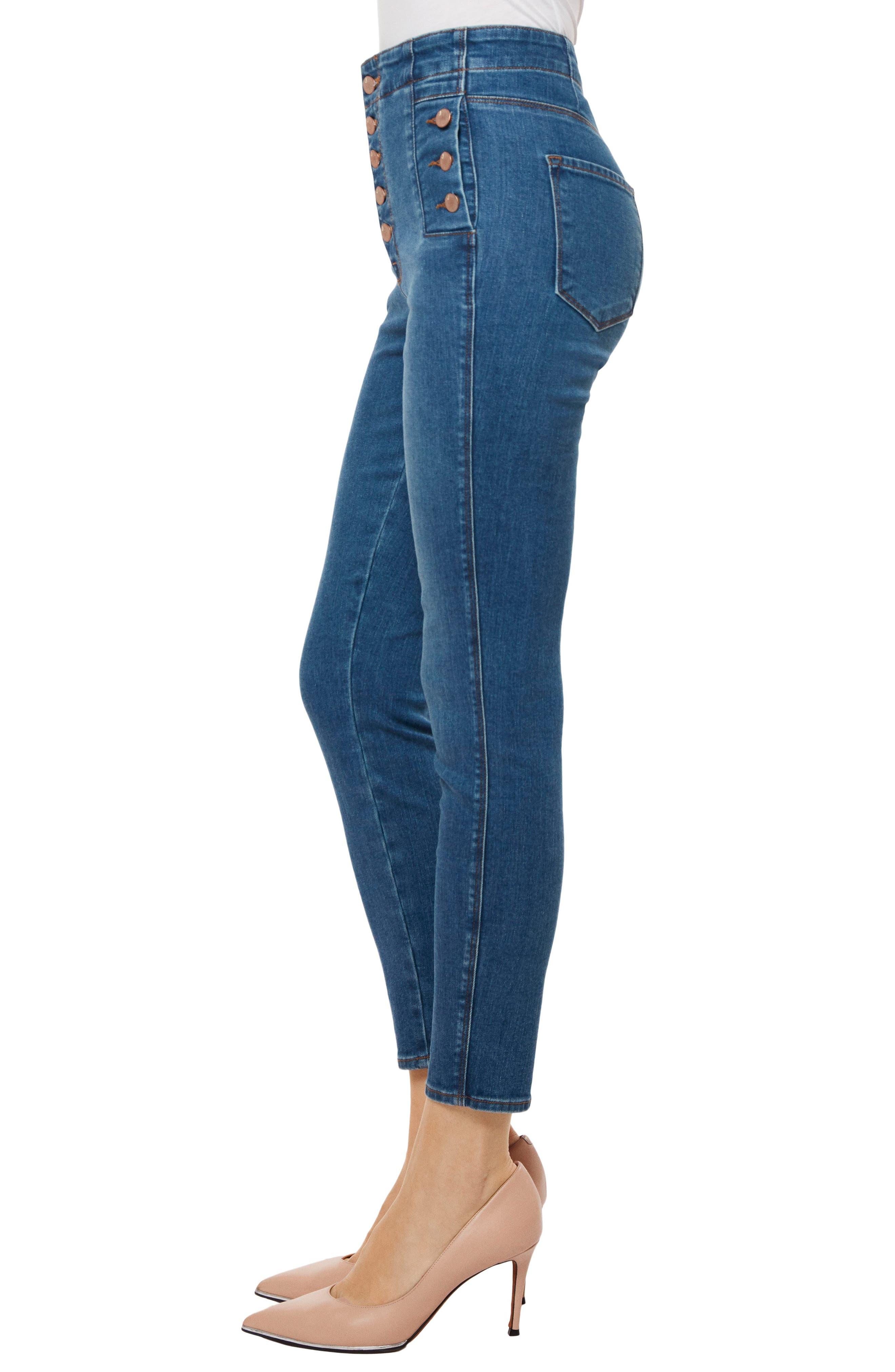 Natasha Sky High High Waist Crop Skinny Jeans,                             Alternate thumbnail 3, color,                             LOVESICK