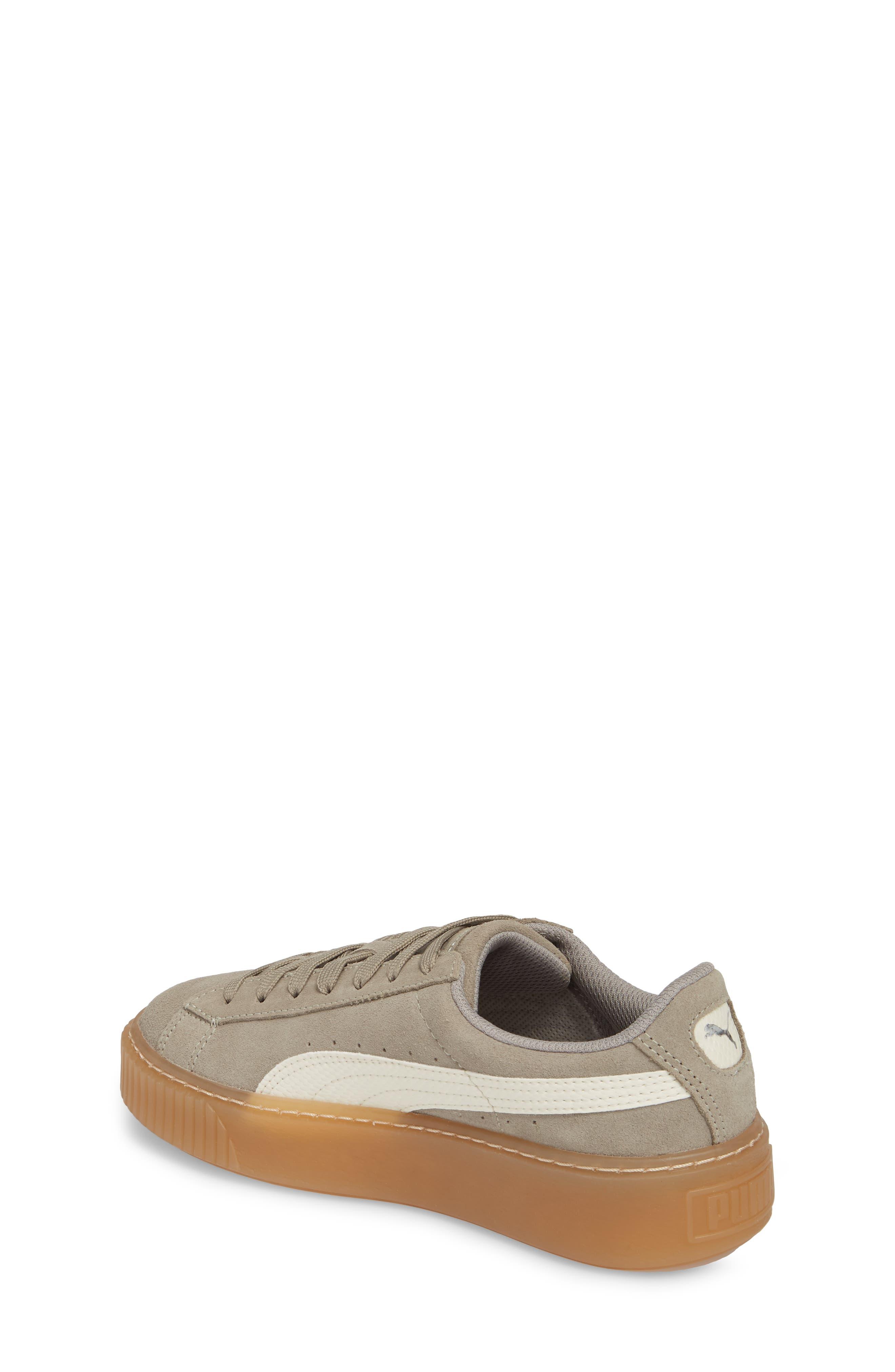 Suede Platform Jr Sneaker,                             Alternate thumbnail 2, color,                             060
