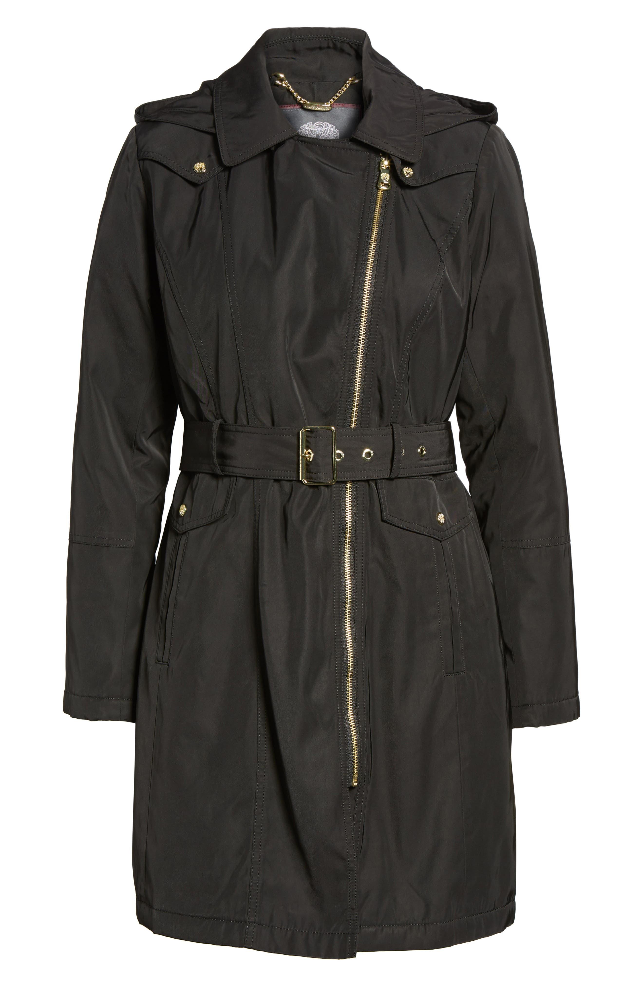 Belted Raincoat,                             Alternate thumbnail 5, color,                             001