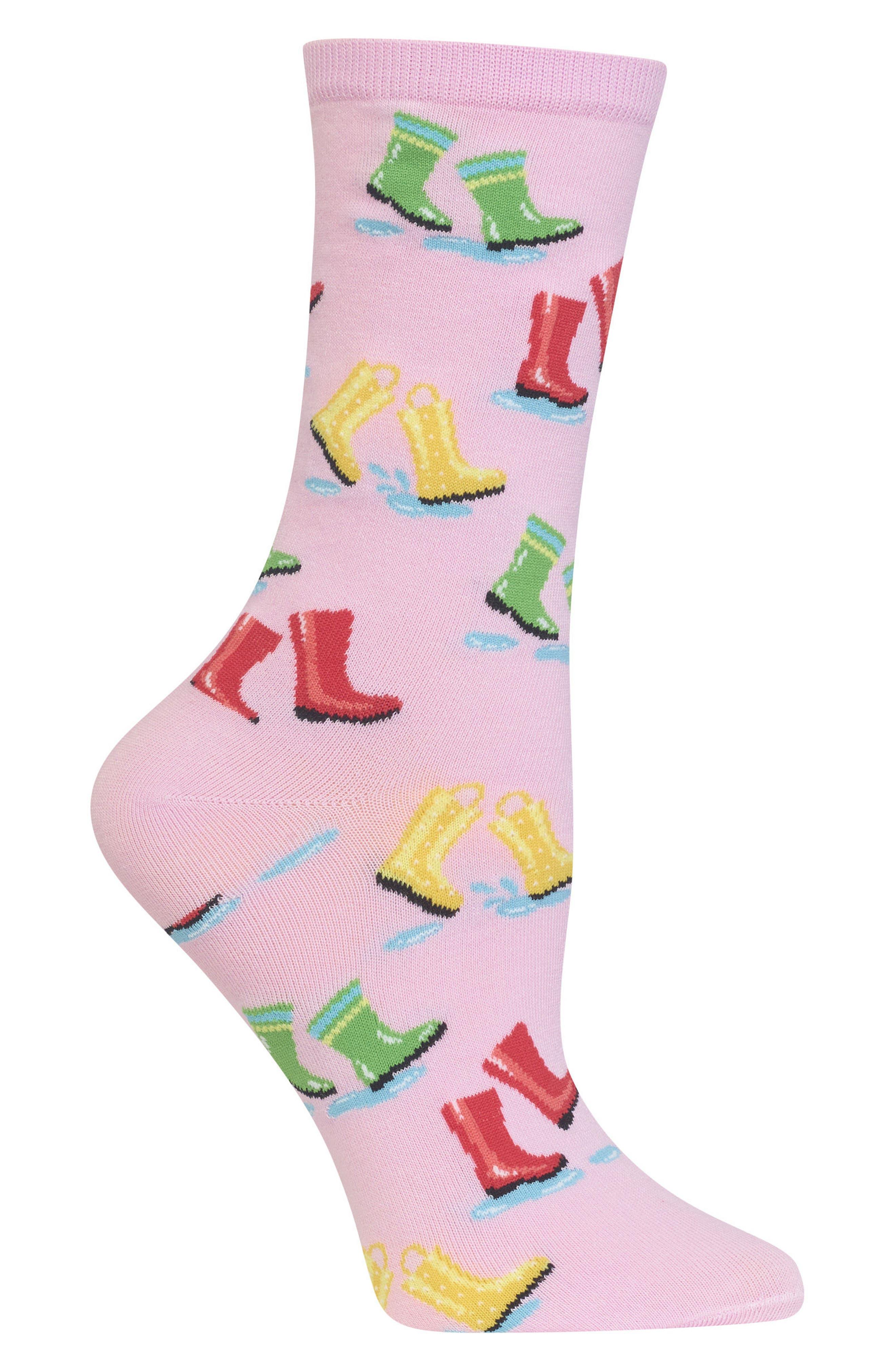 Rainboots Crew Socks,                             Alternate thumbnail 2, color,                             678