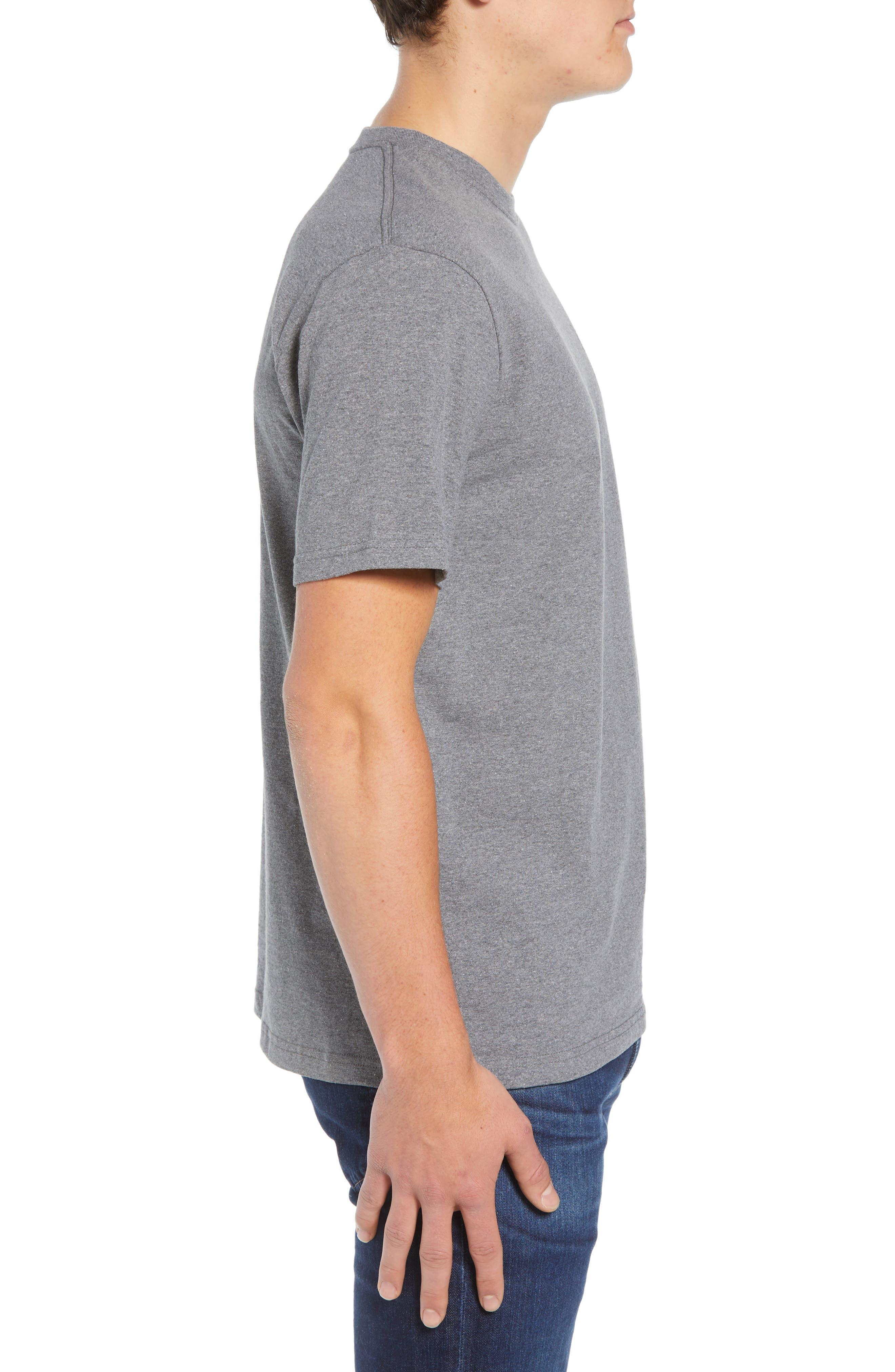 Shaka Wave Slim Fit T-Shirt,                             Alternate thumbnail 3, color,                             GRAVEL HEATHER