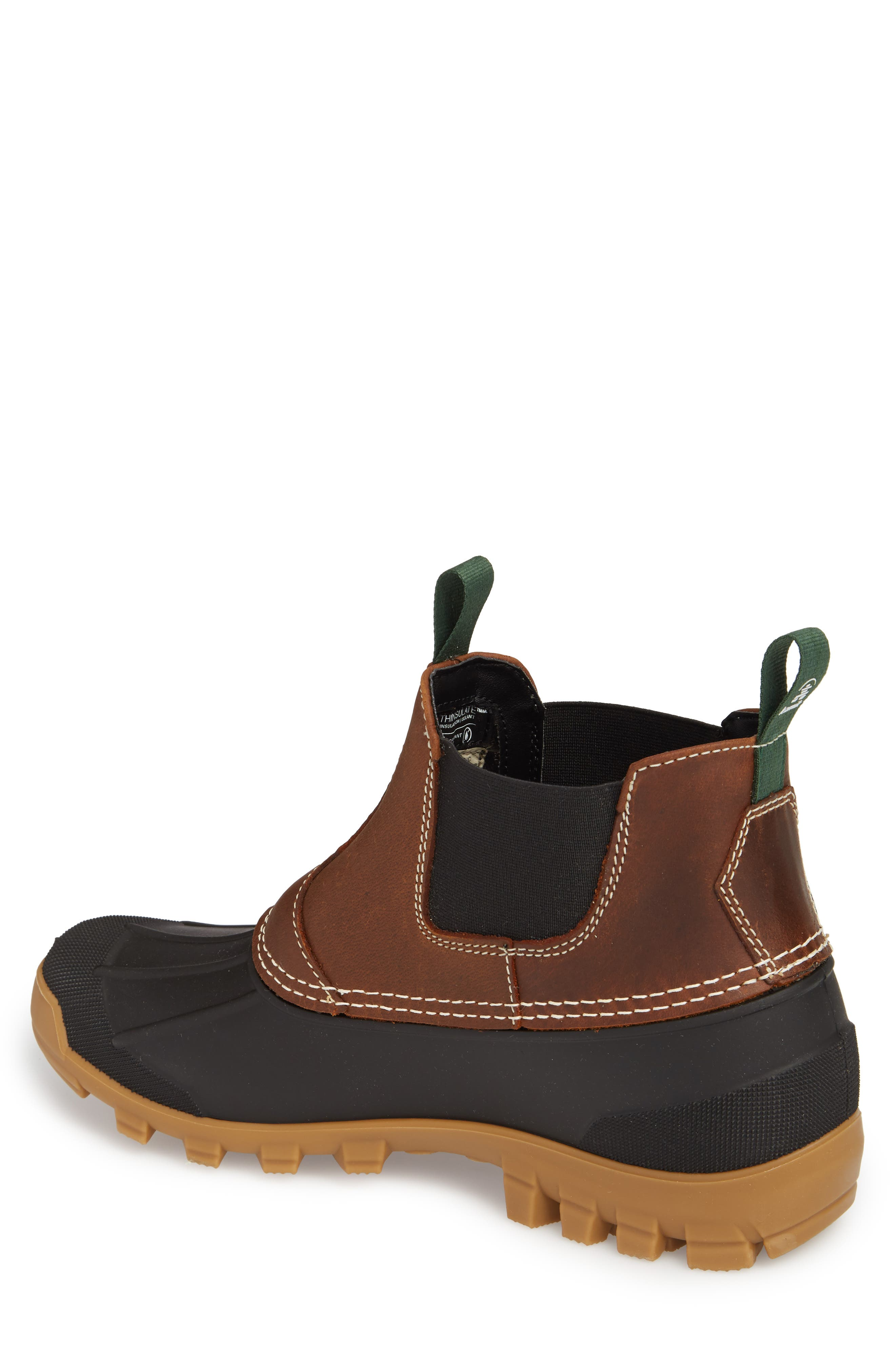 Yukon Chelsea Boot,                             Alternate thumbnail 2, color,                             DARK BROWN LEATHER