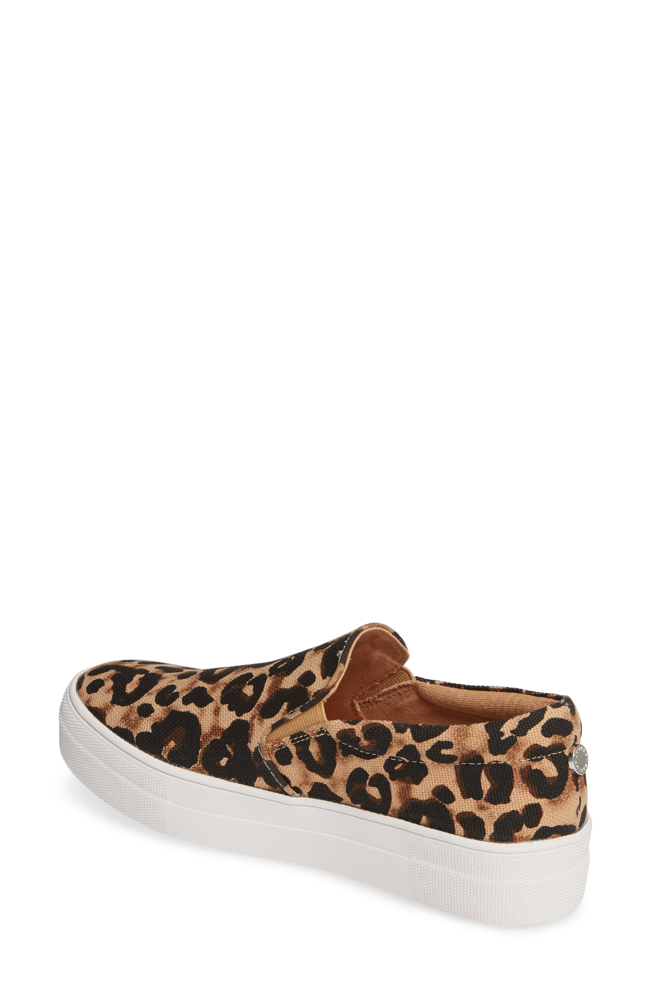 STEVE MADDEN,                             Gills Platform Slip-On Sneaker,                             Alternate thumbnail 2, color,                             LEOPARD PRINT
