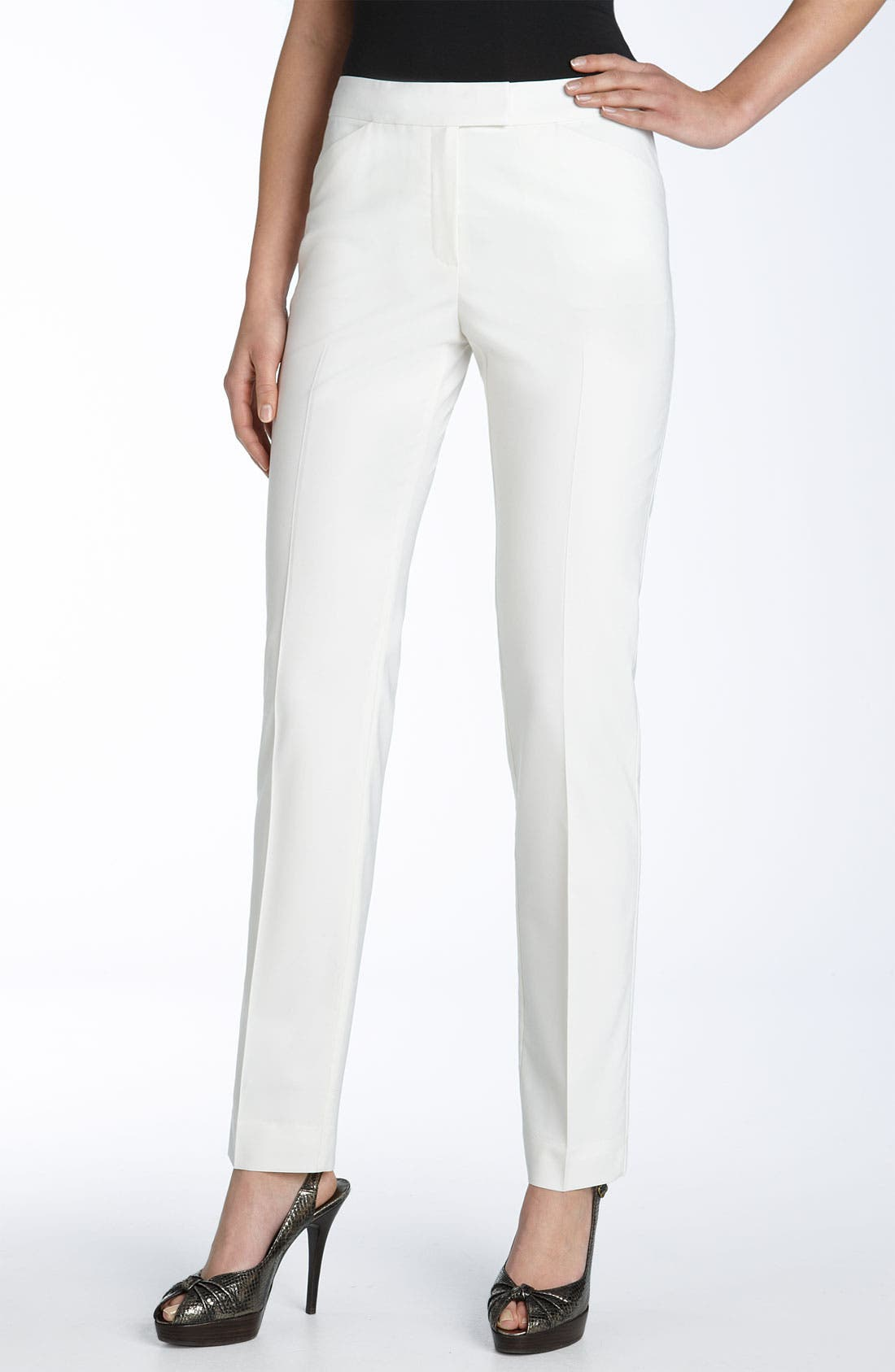 Irving Stretch Wool Pants,                             Main thumbnail 1, color,                             IVORY