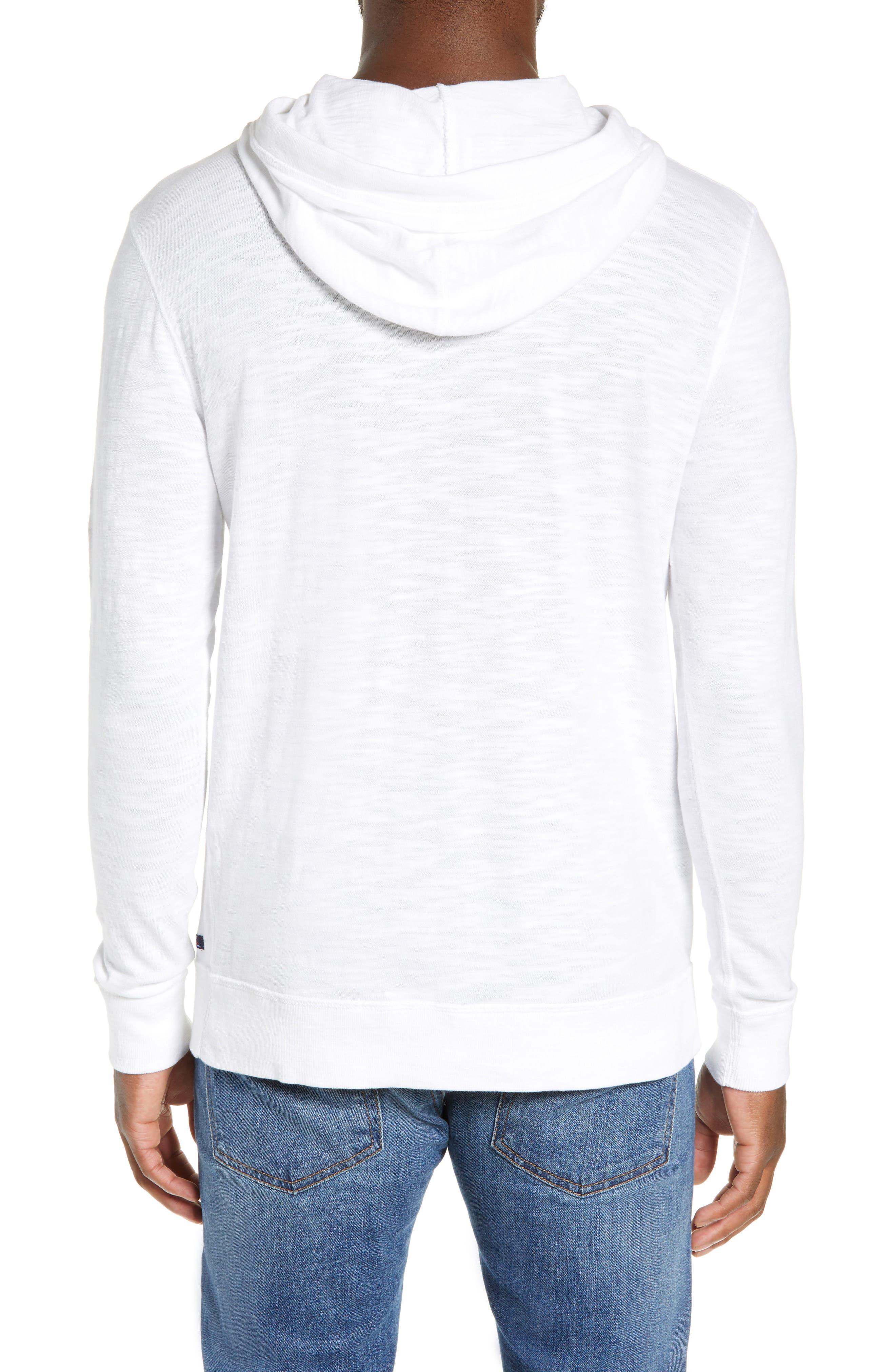 Slubbed Cotton Hooded Pullover,                             Alternate thumbnail 3, color,                             WHITE