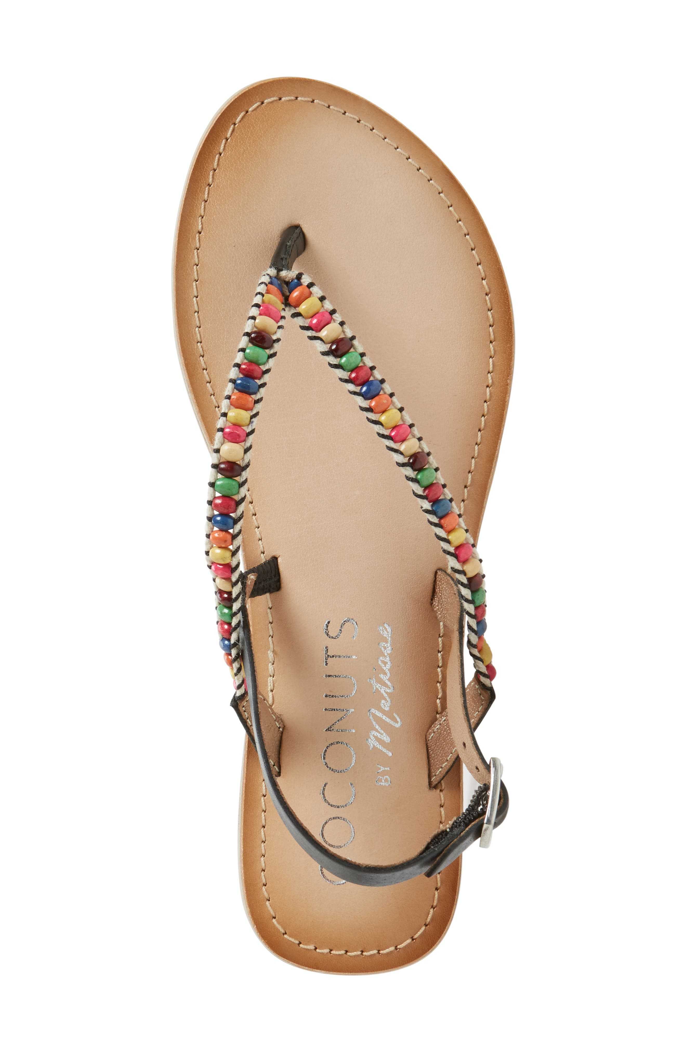 Coconuts by Matisse Celebration Beaded Sandal,                             Alternate thumbnail 3, color,                             001