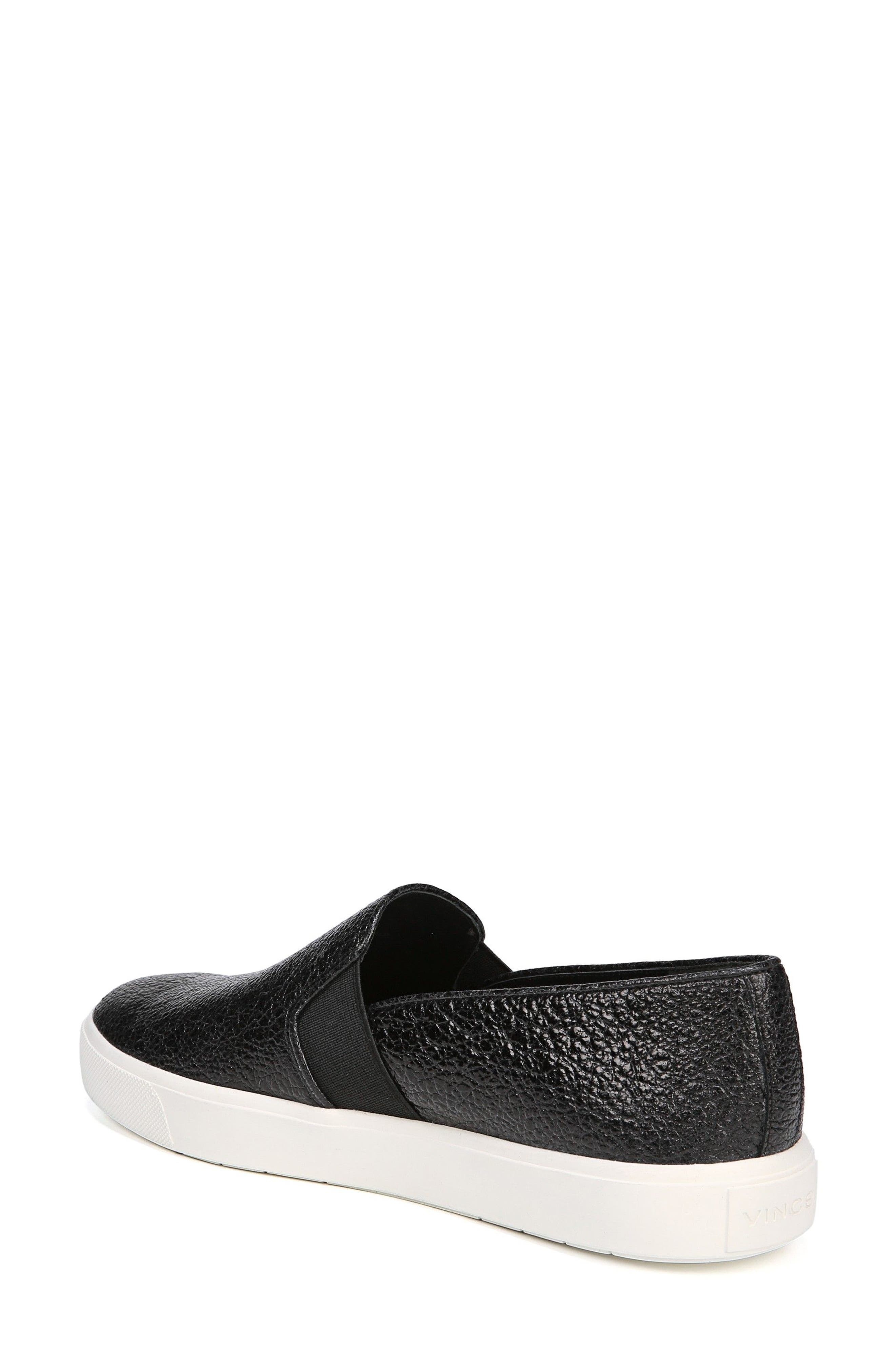 'Blair 12' Leather Slip-On Sneaker,                             Alternate thumbnail 2, color,                             BLACK LEATHER