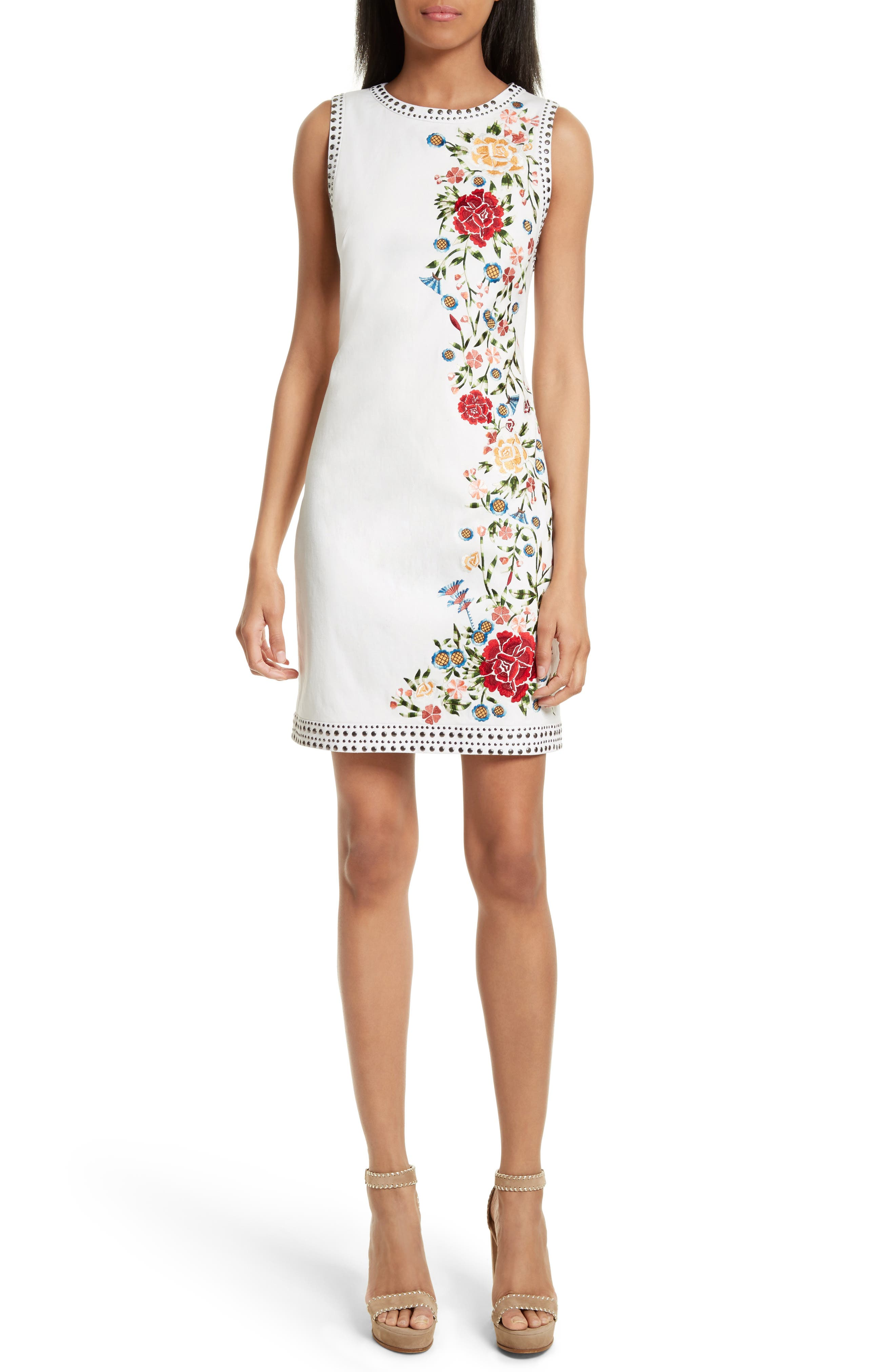 Nat Embroidered Minidress,                         Main,                         color, 299