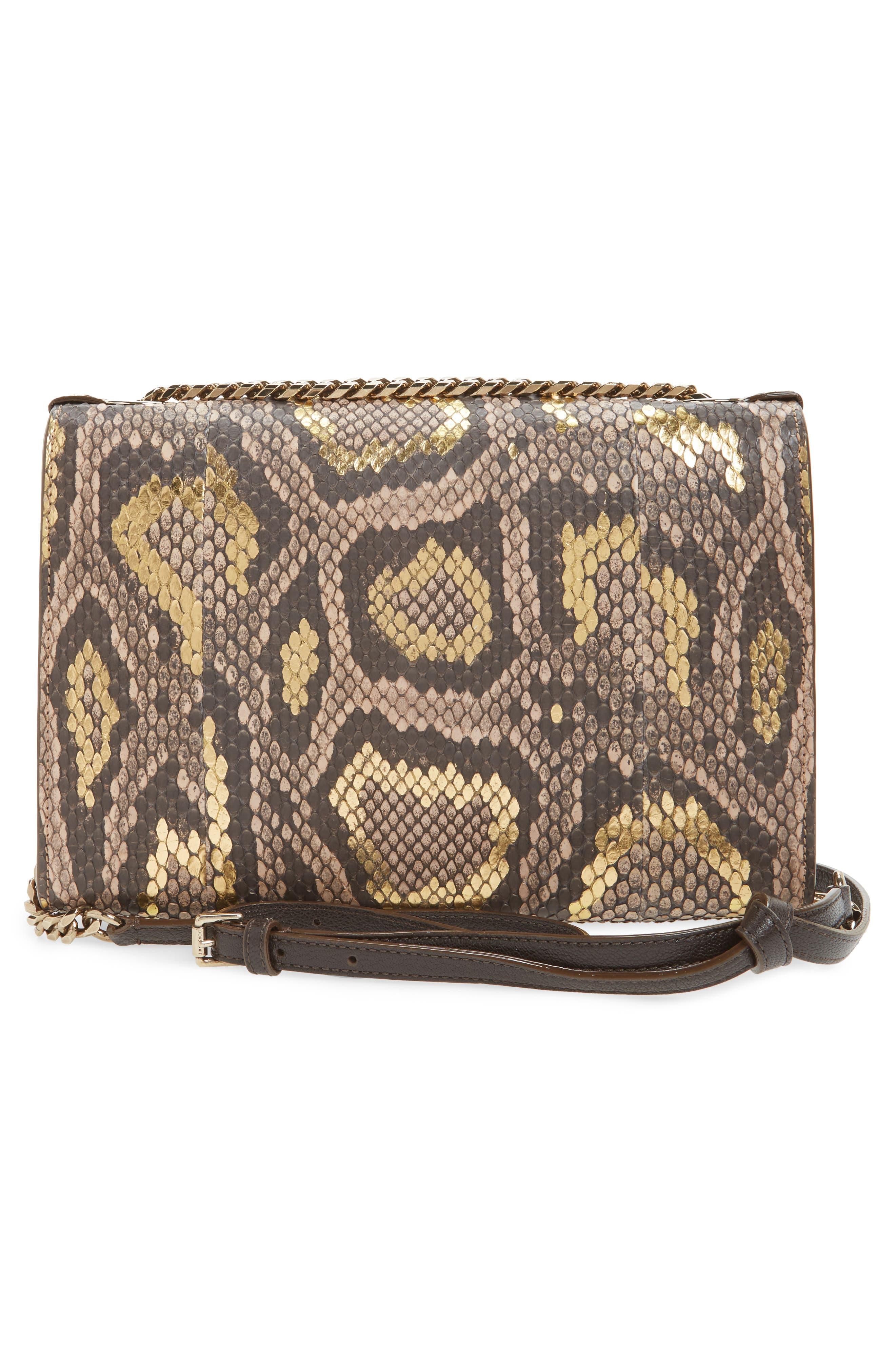 Rebel Genuine Python Crossbody Bag,                             Alternate thumbnail 3, color,                             250