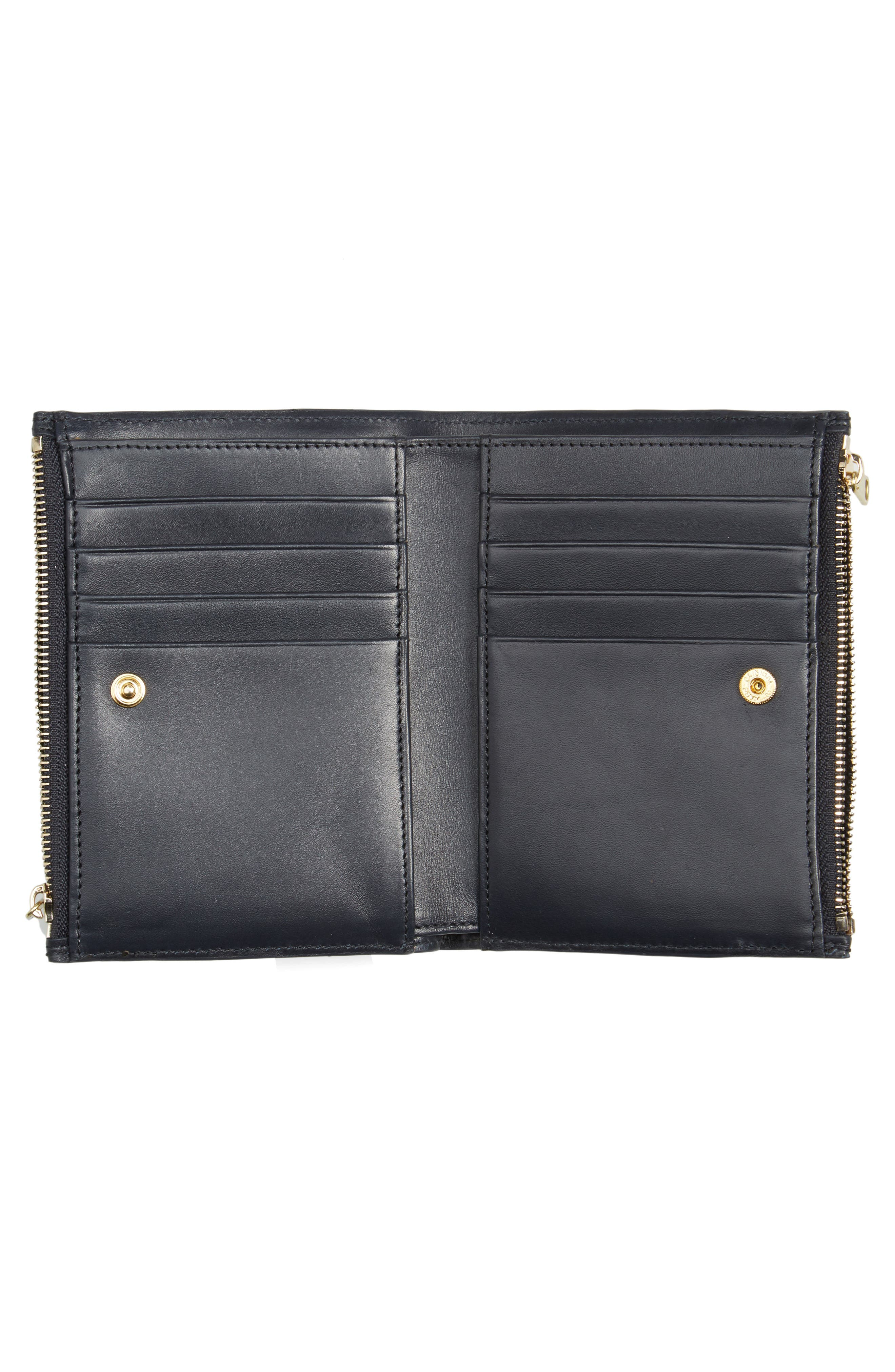 Claudine Calfskin Leather Wallet,                             Alternate thumbnail 2, color,                             410
