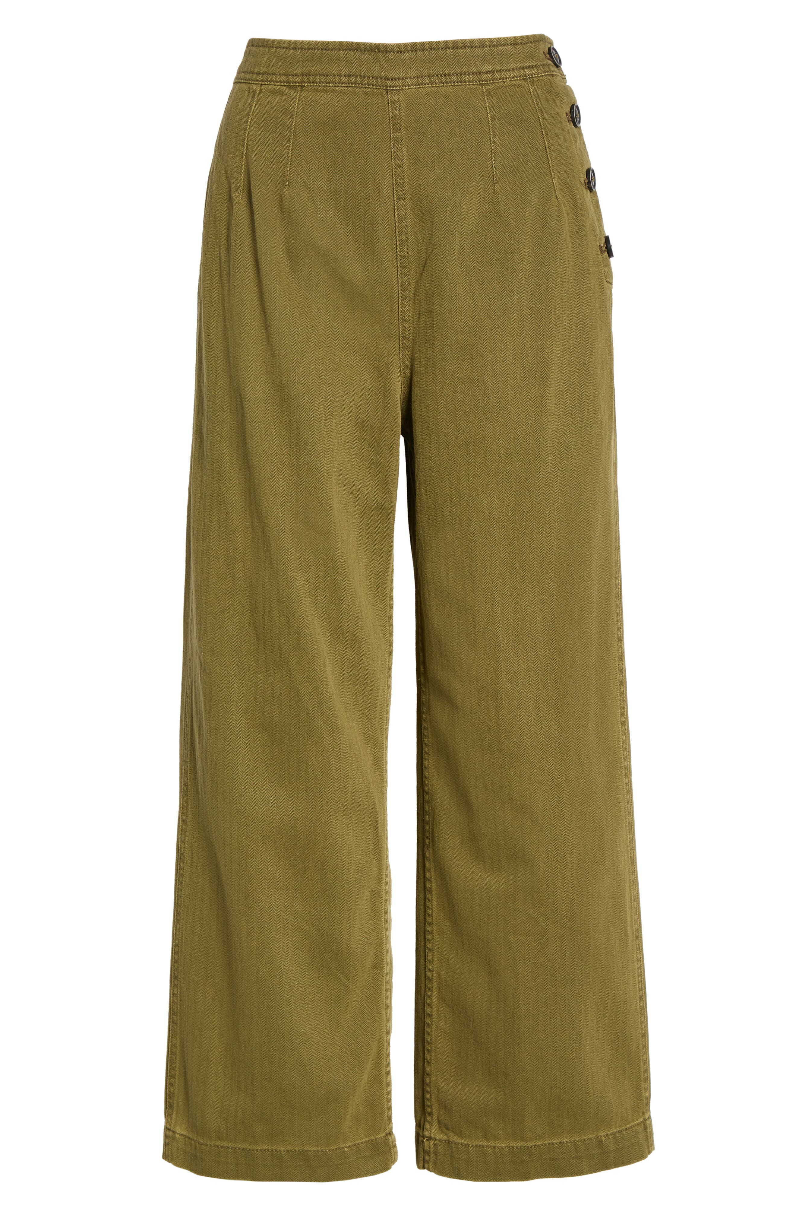 We the Free by Free People Utility Crop Pants,                             Alternate thumbnail 7, color,                             MOSS