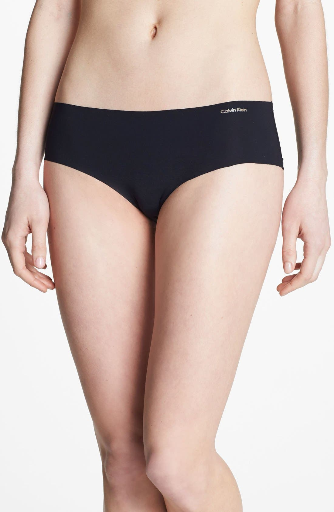 'Invisibles' Hipster Briefs,                         Main,                         color, BLACK