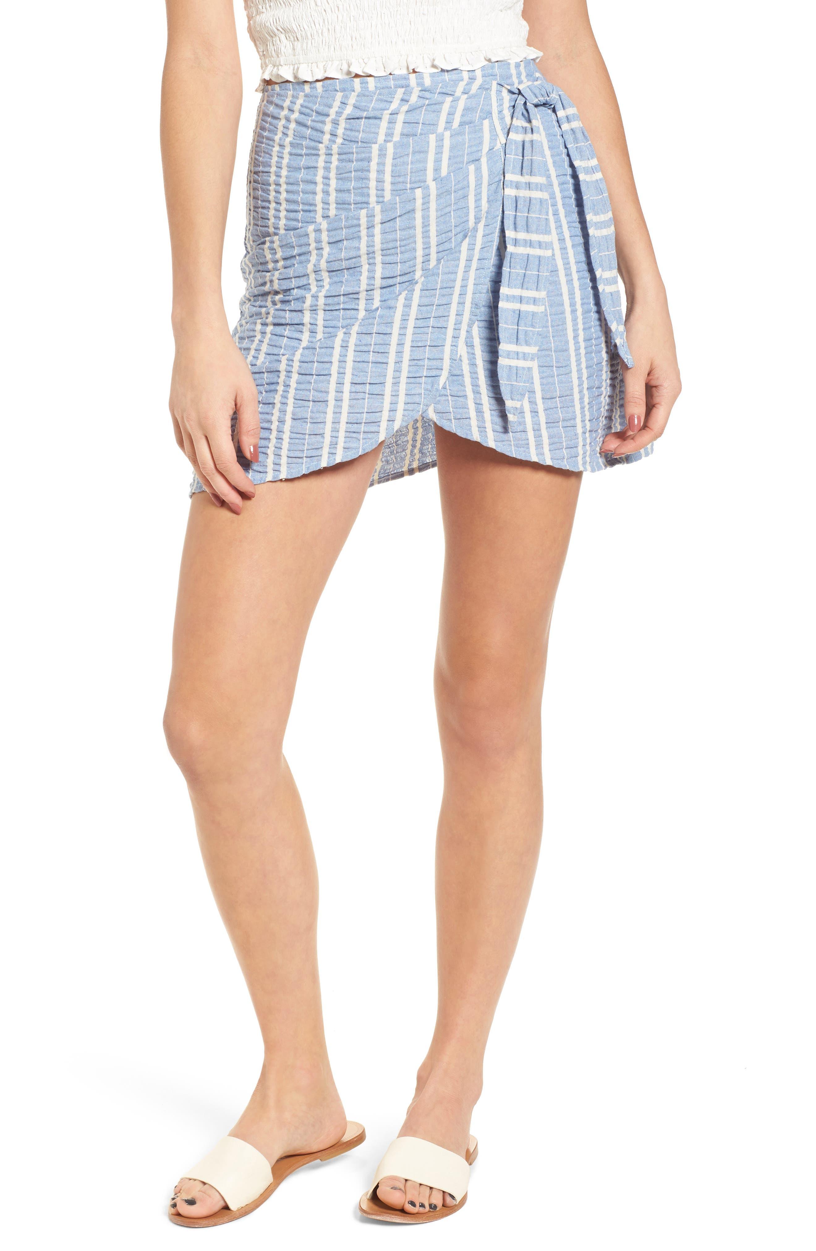 LOST + WANDER,                             Waves Wrap Front Skirt,                             Main thumbnail 1, color,                             466