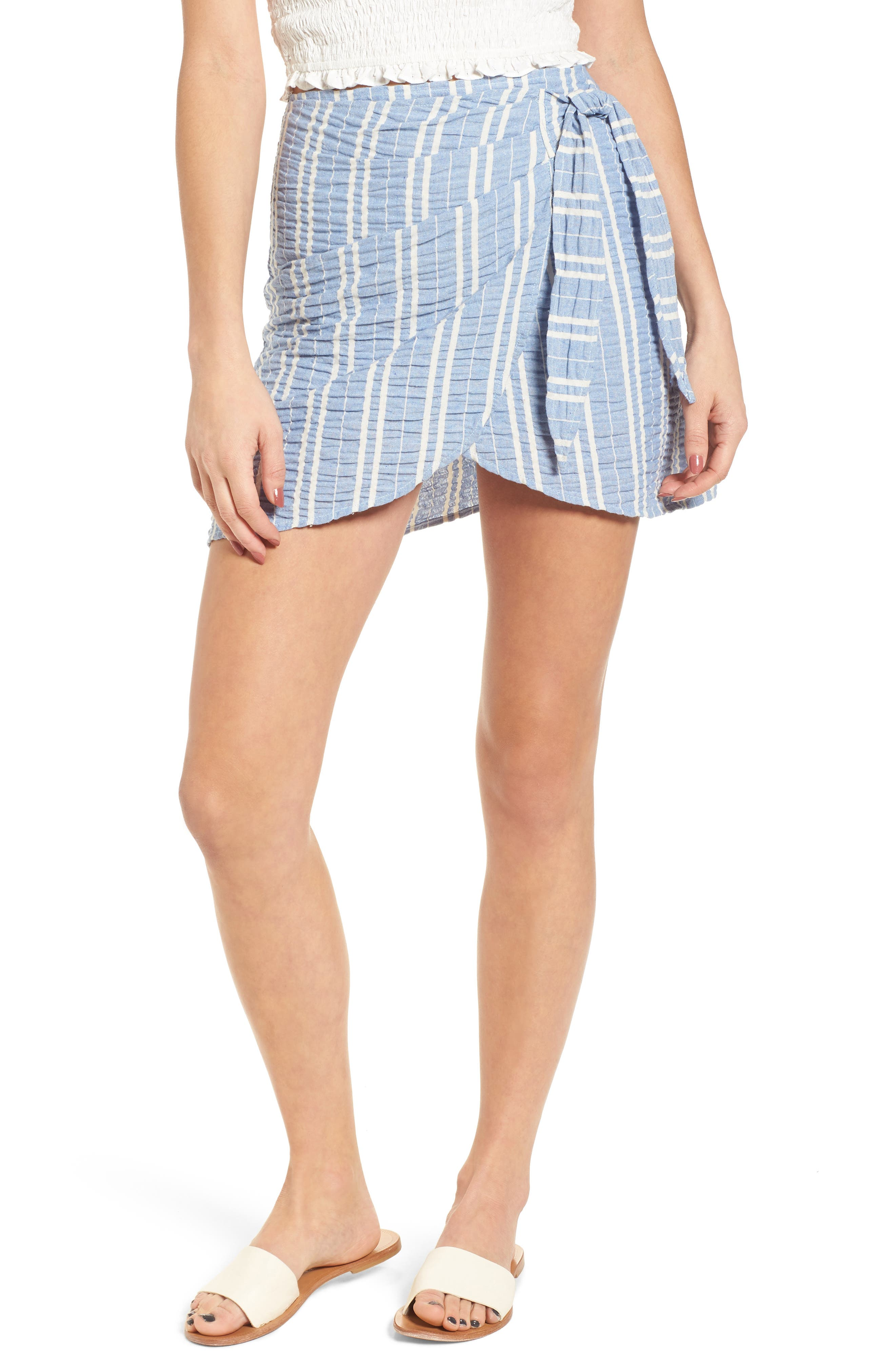 LOST + WANDER Waves Wrap Front Skirt, Main, color, 466