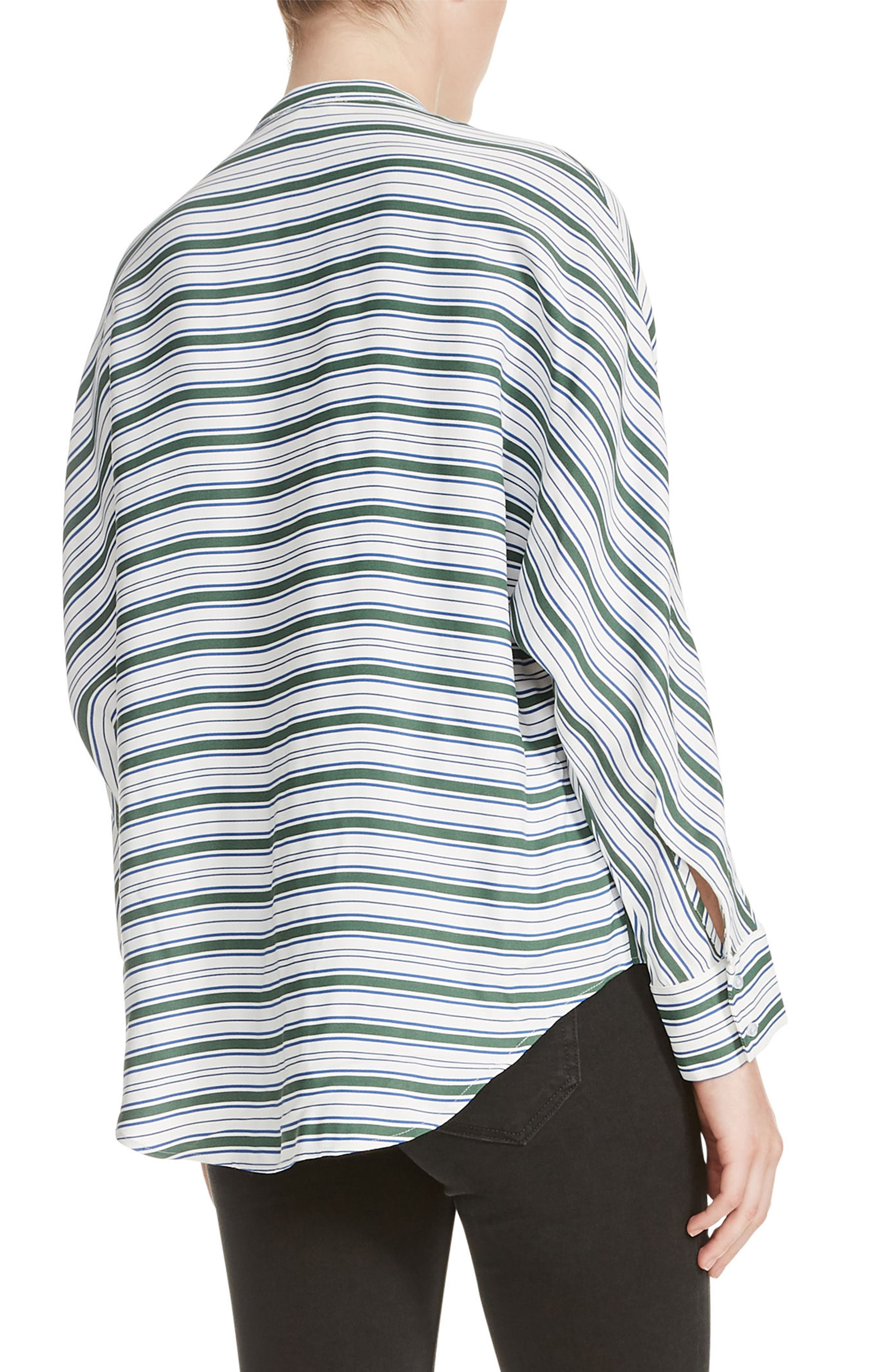 Coquille Stripe Blouse,                             Alternate thumbnail 2, color,                             400