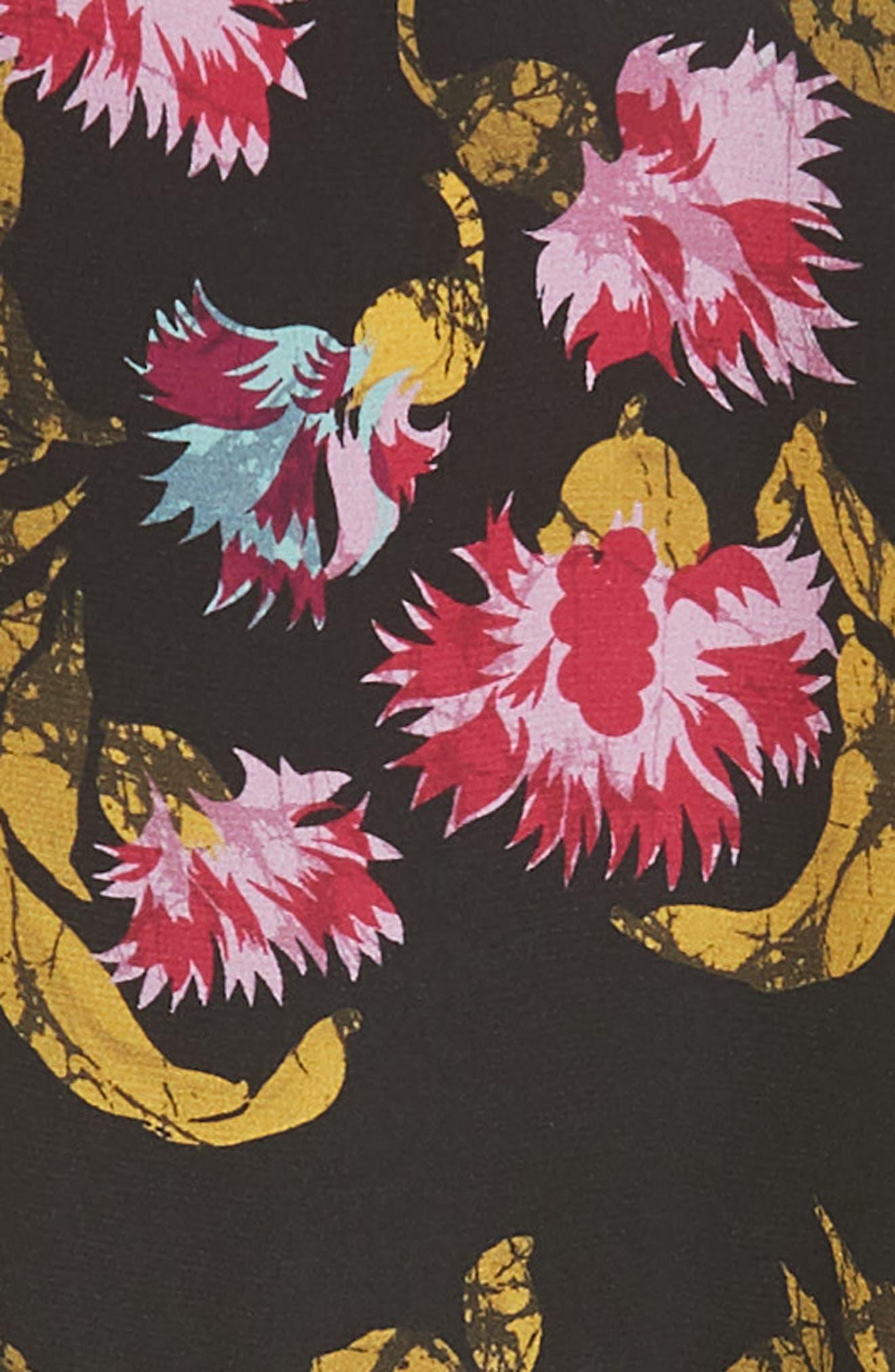 Dita Lace Panel Blouse,                             Alternate thumbnail 2, color,                             FUCHSIA AZALEA BLACK