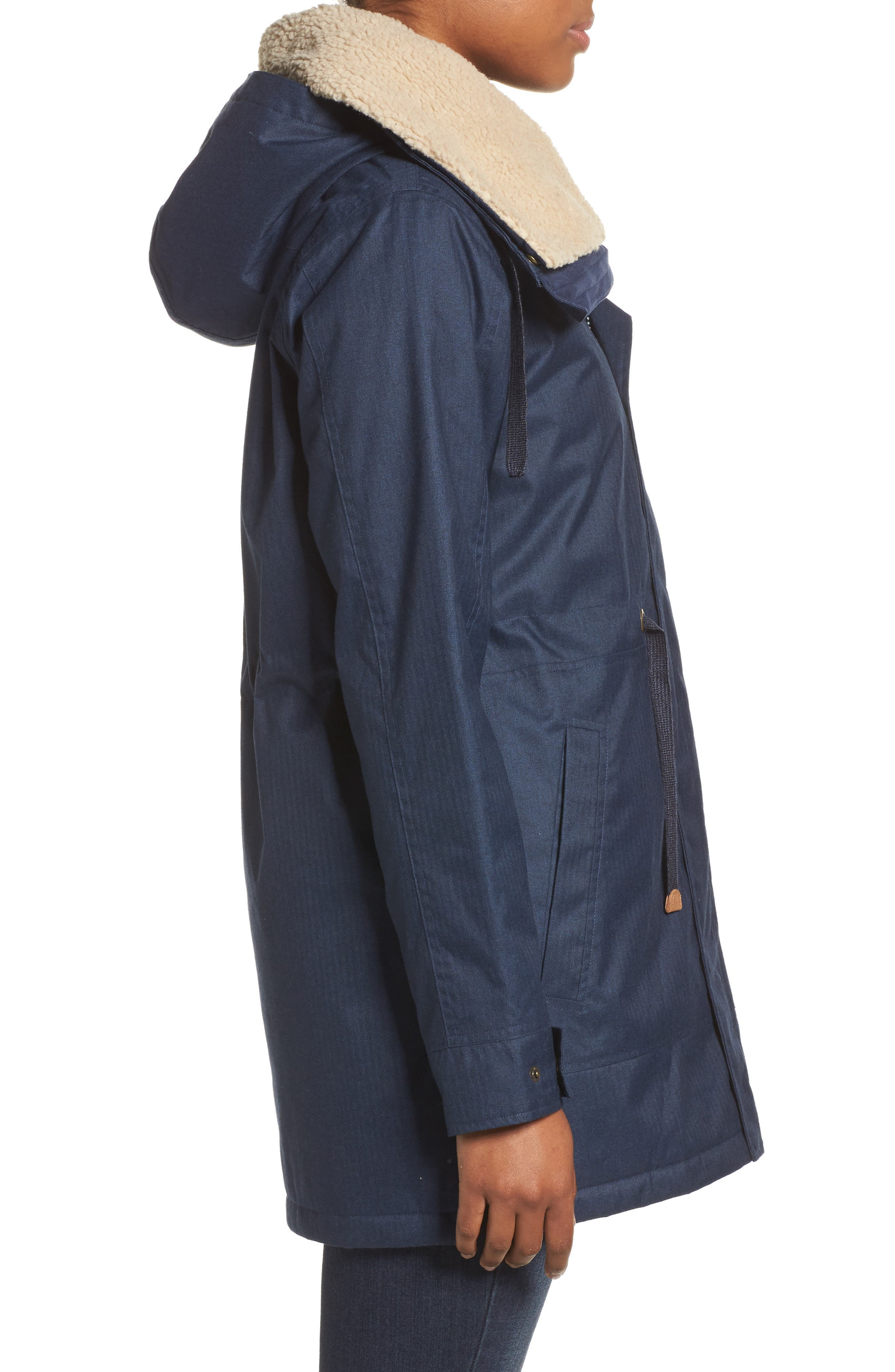 Hazelton Water-Resistant Hooded Jacket with Removable Fleece Lining,                             Alternate thumbnail 3, color,                             400