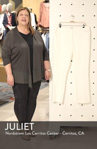 High Rise Stretch Cotton Blend Ankle Pants, sales video thumbnail