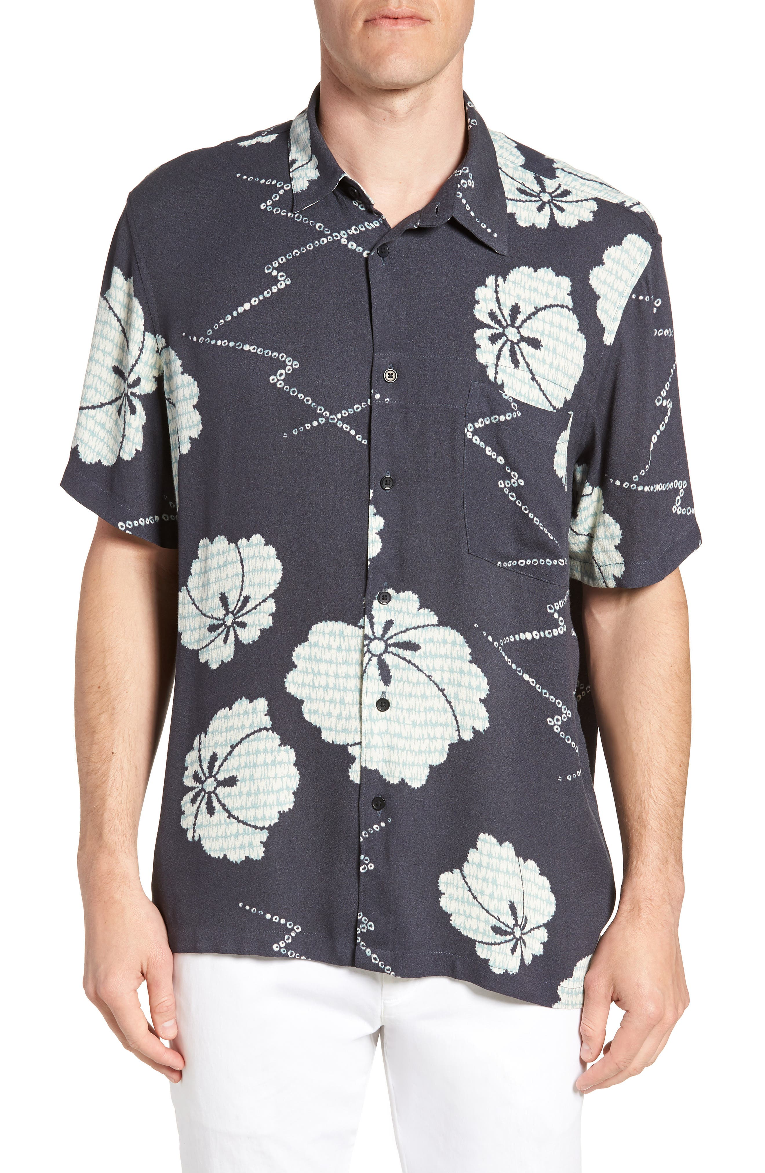 Oversize Safari Woven Shirt,                             Main thumbnail 1, color,                             001