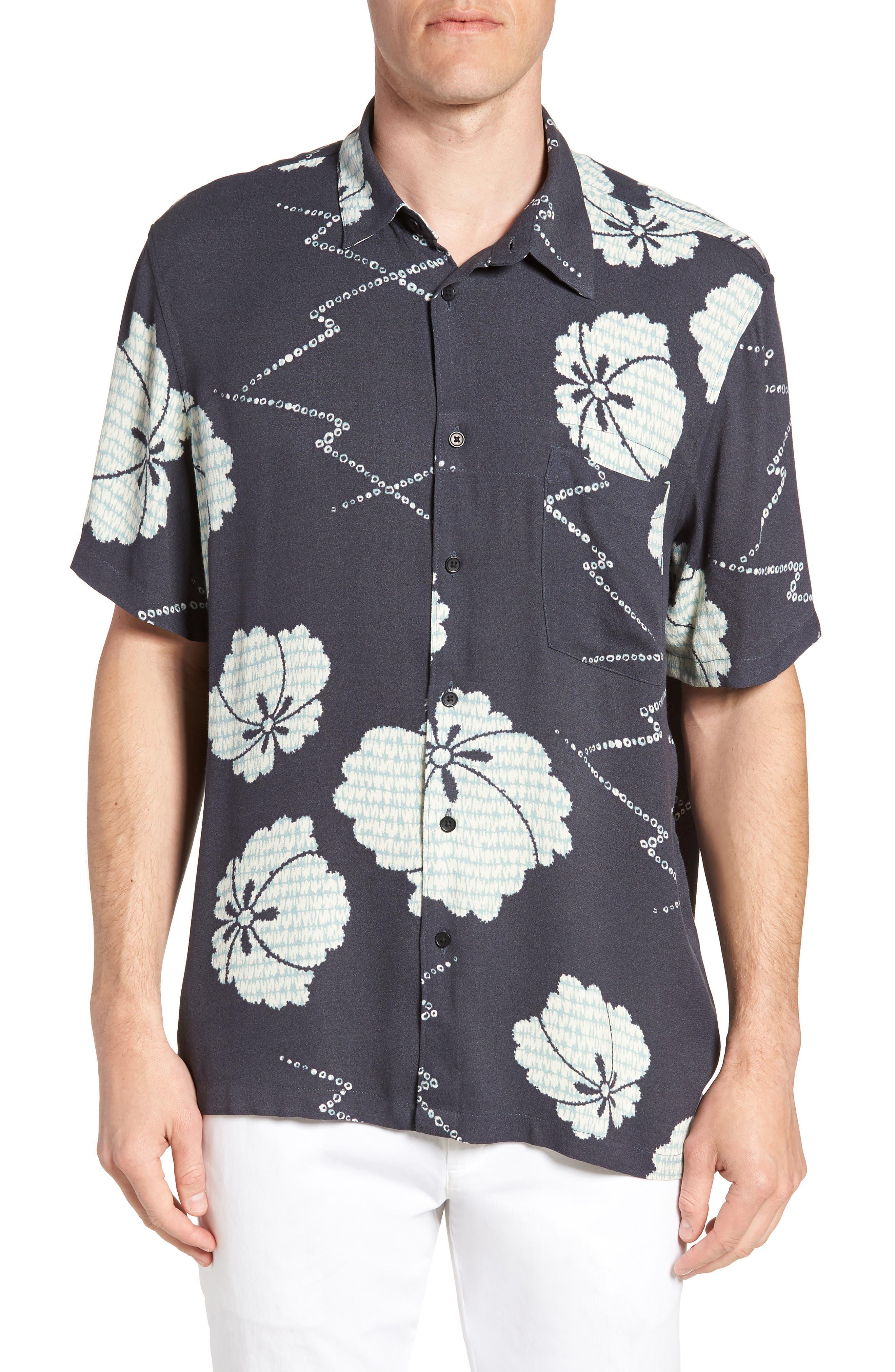 Oversize Safari Woven Shirt,                         Main,                         color, HERON INDIA INK