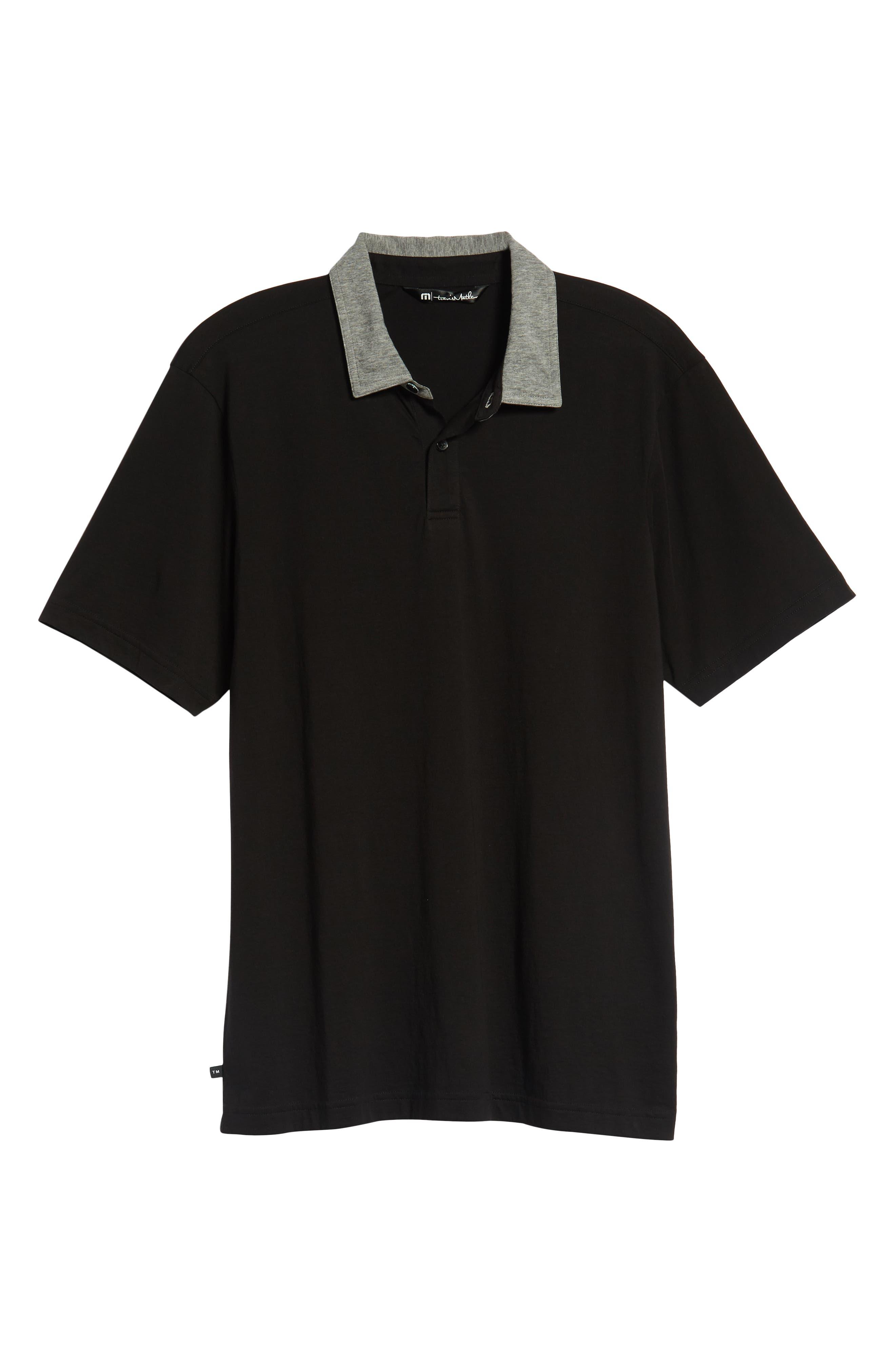 Rupert Short Sleeve Regular Fit Polo Shirt,                             Alternate thumbnail 6, color,                             BLACK