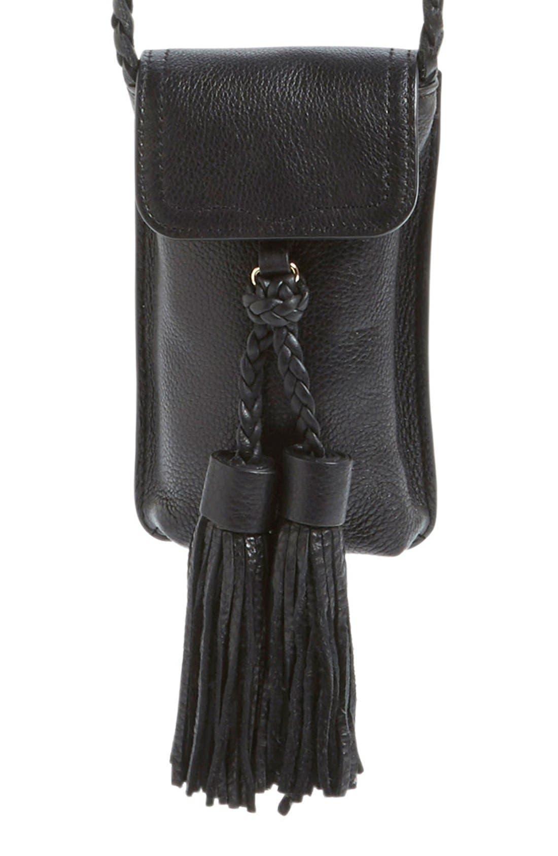 Isobel Phone Crossbody Bag,                             Main thumbnail 1, color,                             001