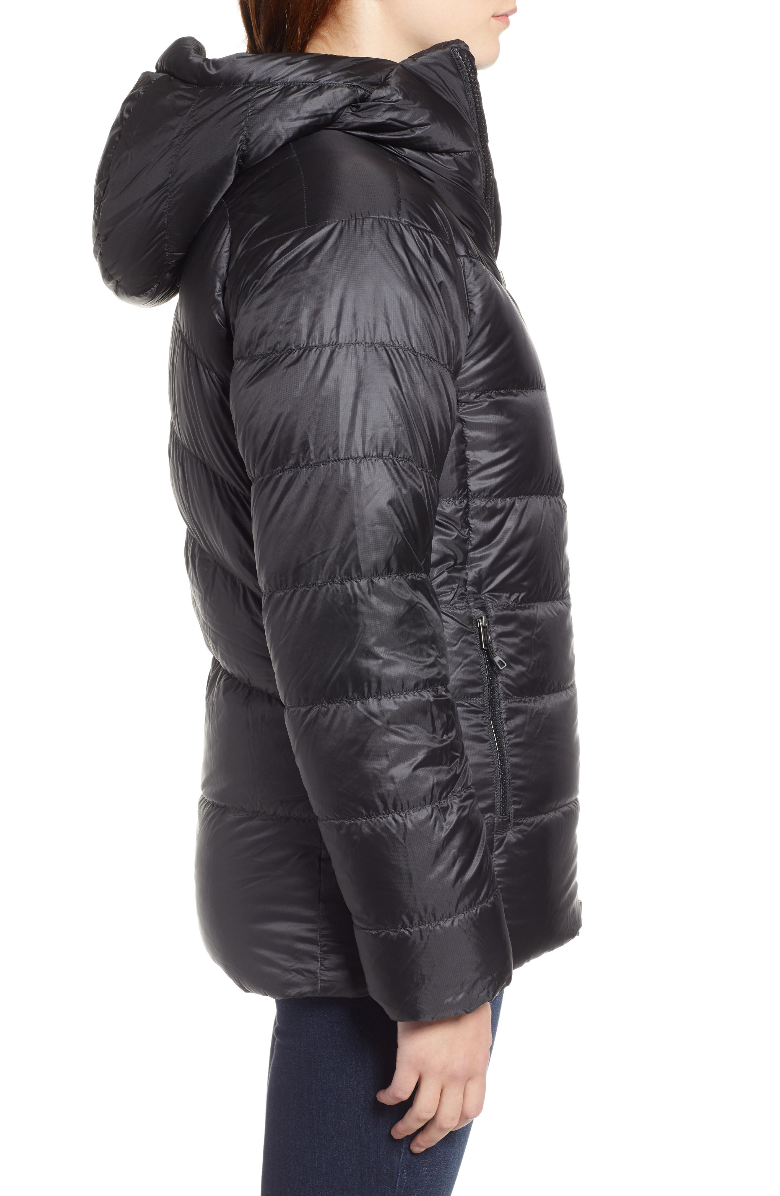Fitz Roy Water Repellent 800-Fill-Power Down Parka,                             Alternate thumbnail 3, color,                             BLACK