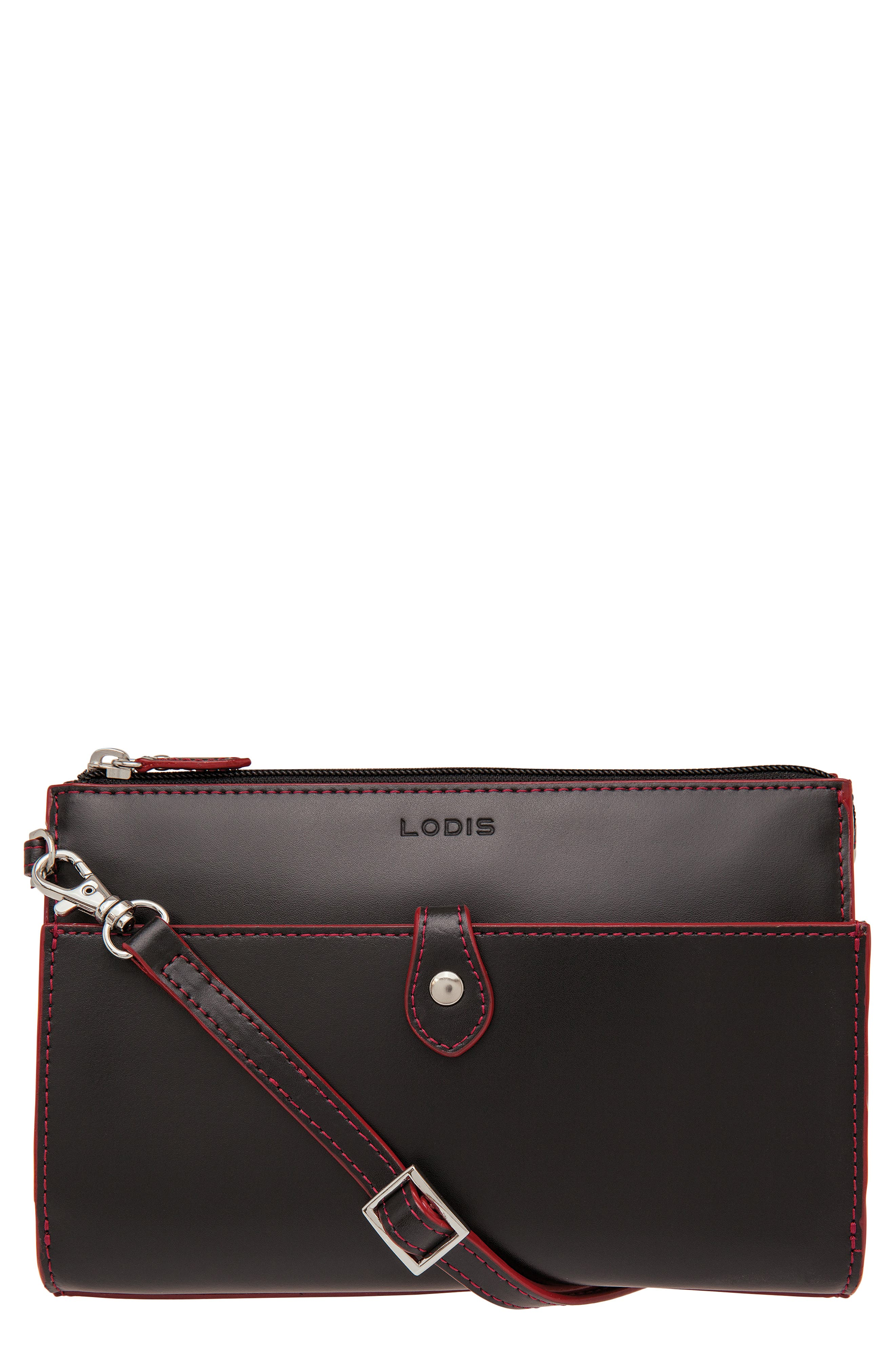 Audrey Under Lock & Key Vicky Convertible Leather Crossbody Bag,                             Main thumbnail 1, color,                             001