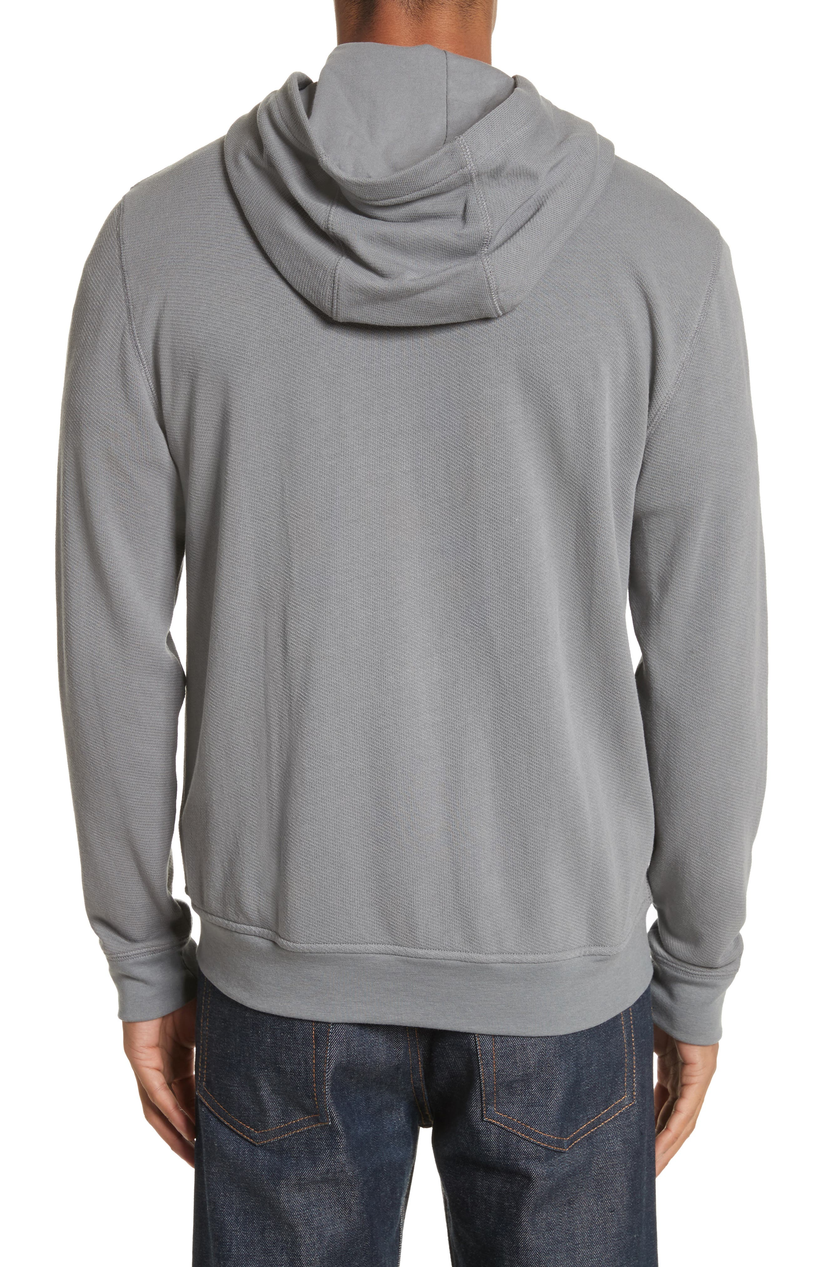 French Terry Zip Hoodie,                             Alternate thumbnail 2, color,                             024