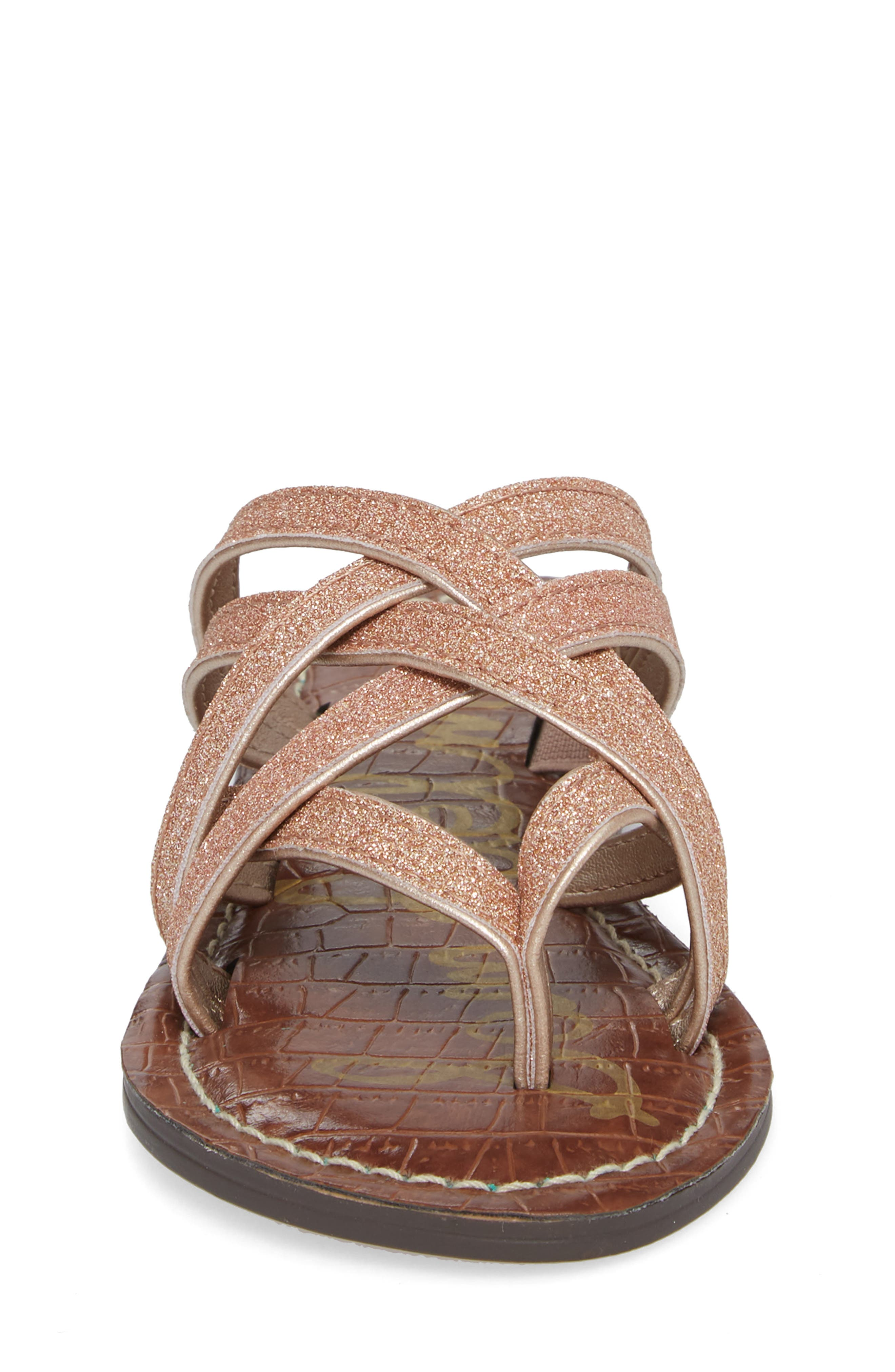 Georgette Glitter Flat Sandal,                             Alternate thumbnail 11, color,