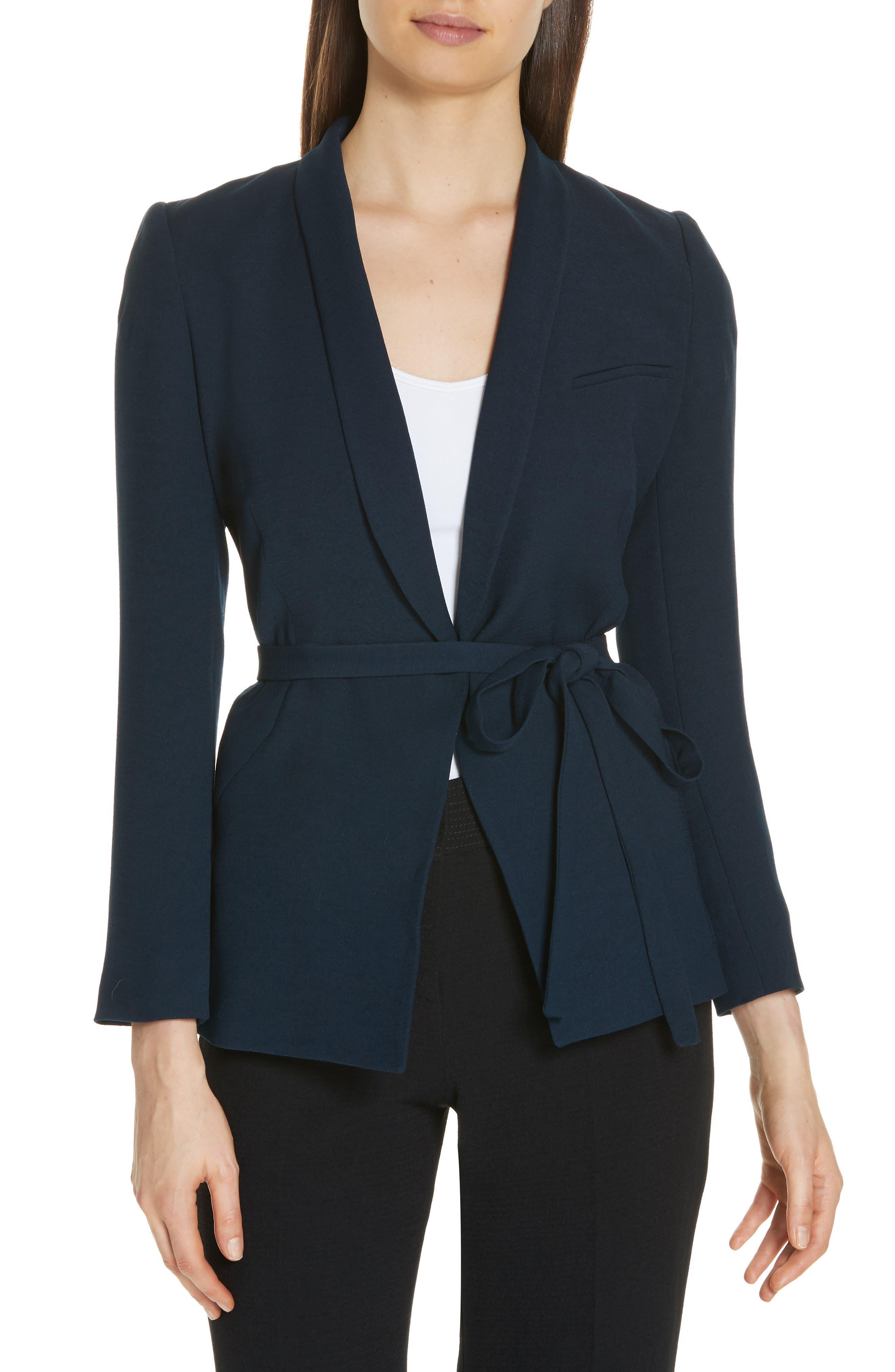 Padova Belted Jacket,                             Main thumbnail 1, color,                             NUIT