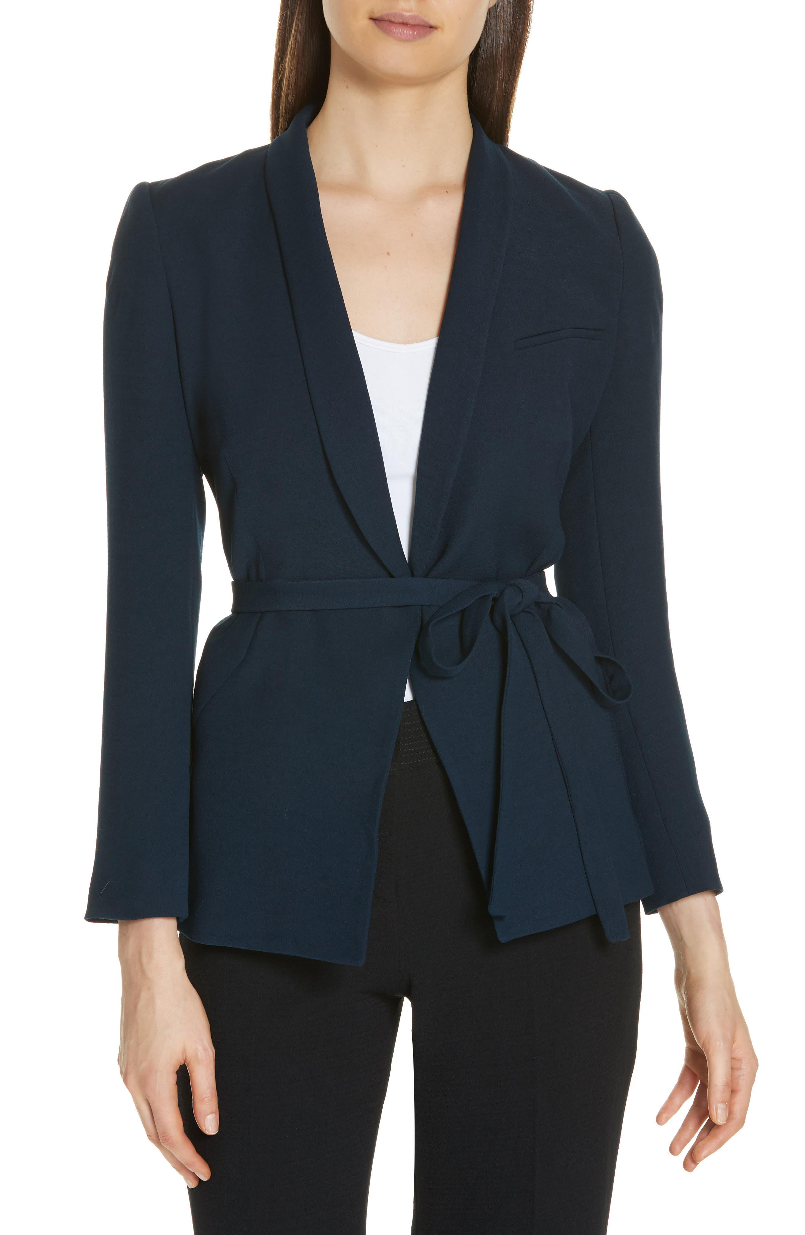 Padova Belted Jacket,                         Main,                         color, NUIT