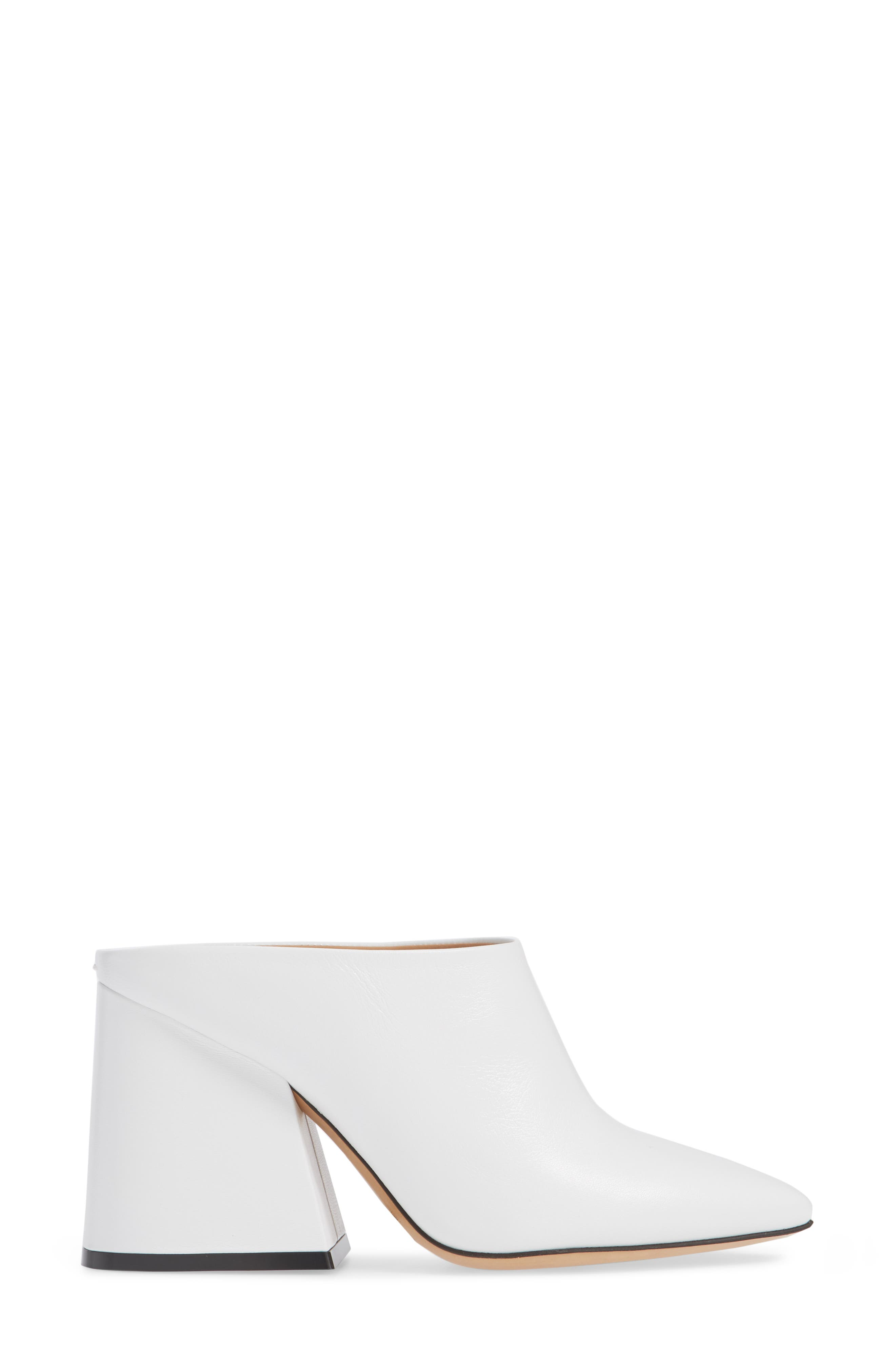 Pointy Toe Mule,                             Alternate thumbnail 3, color,                             WHITE