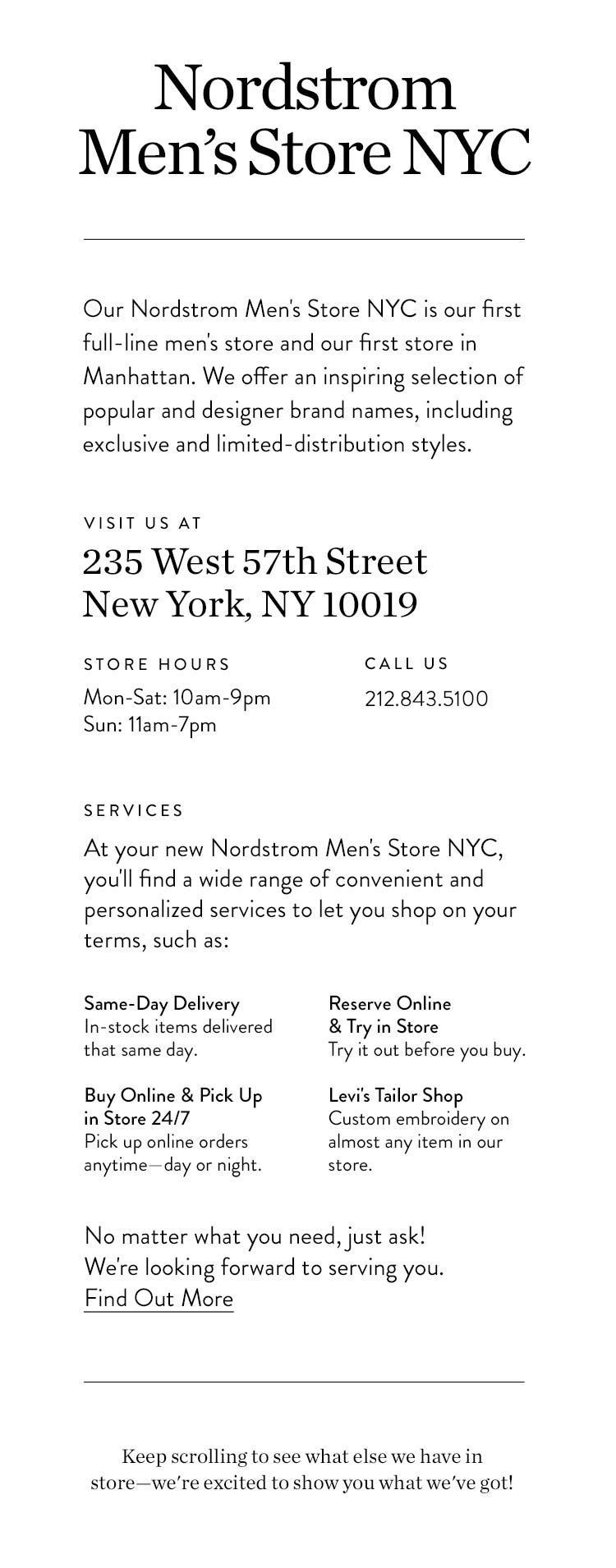 d7ca166a7b57e Nordstrom Men s Store NYC  Now Open