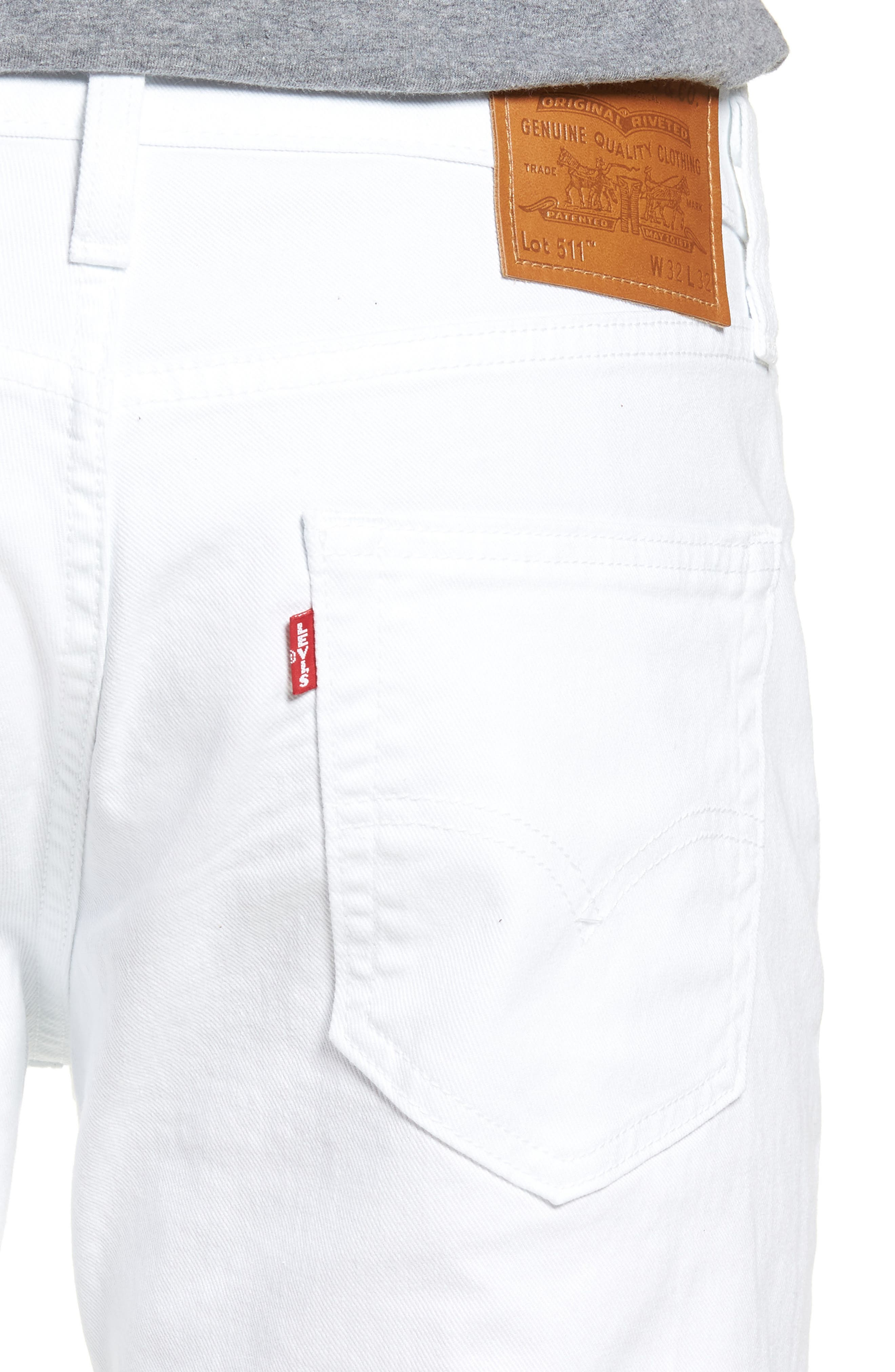 511<sup>™</sup> Slim Fit Jeans,                             Alternate thumbnail 4, color,                             WHITE BULL DENIM II