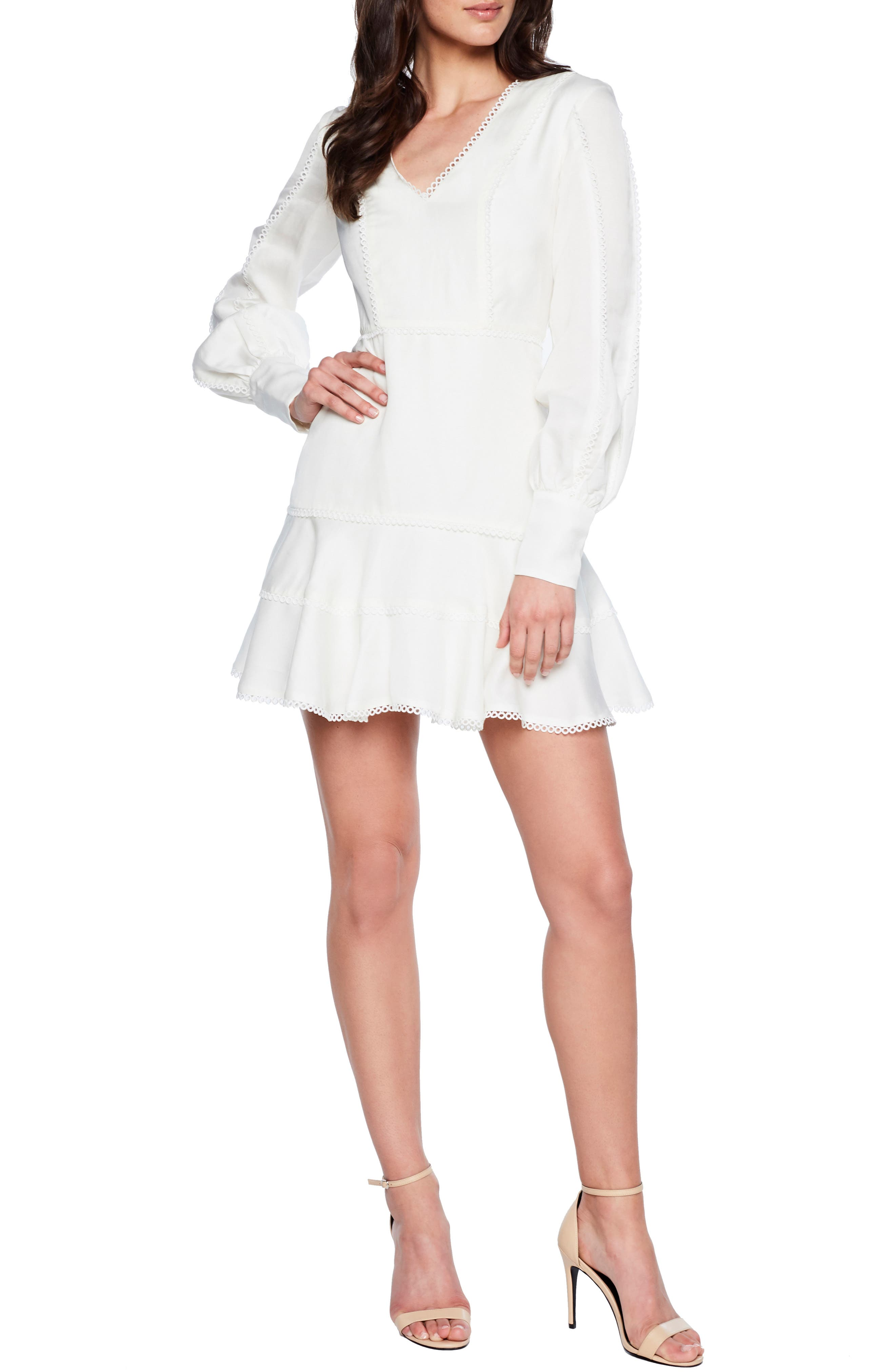 Priano Trim Fit & Flare Dress, Main, color, IVORY