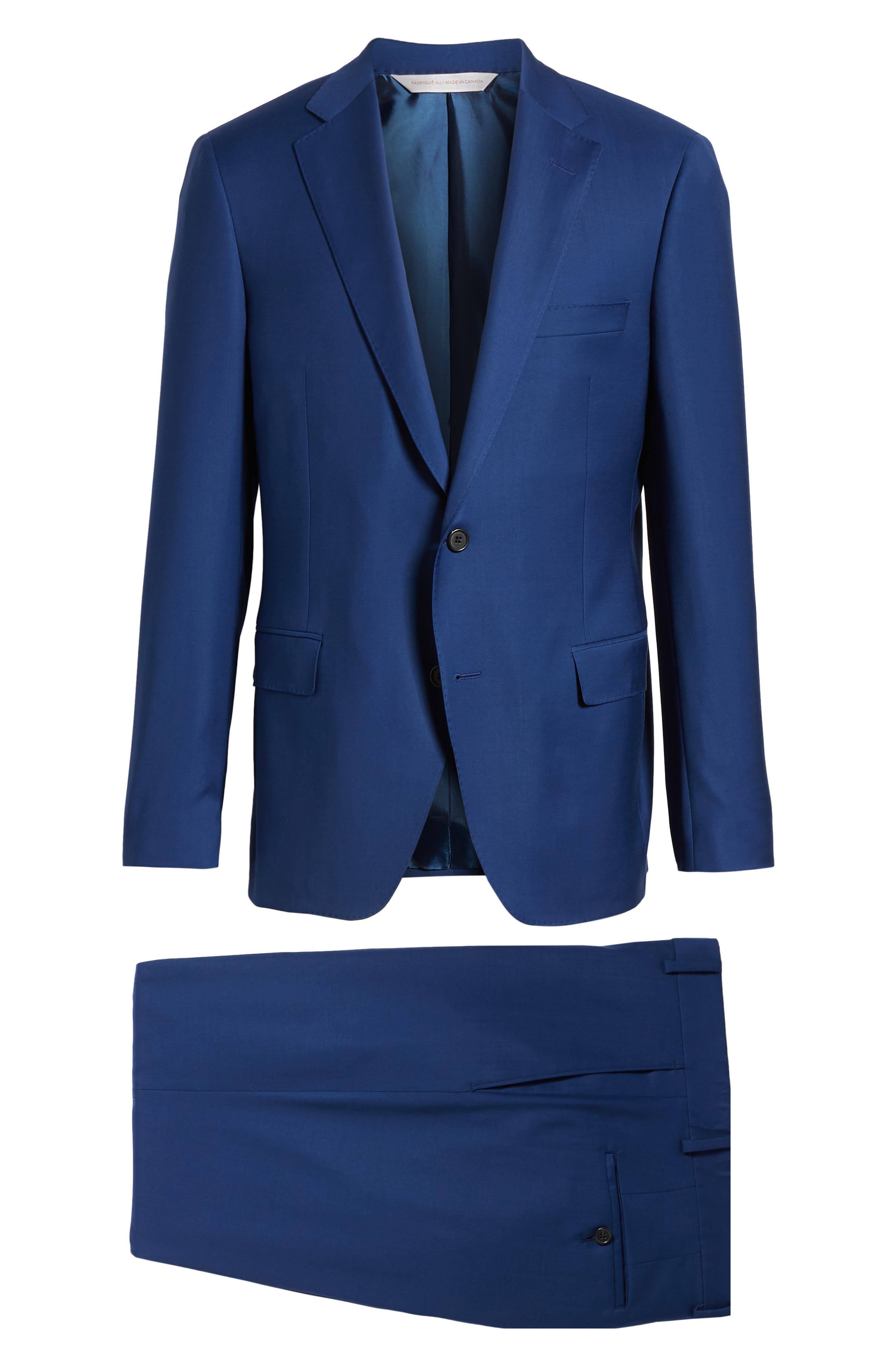Bennet Classic Fit Solid Wool Suit,                             Alternate thumbnail 8, color,                             400