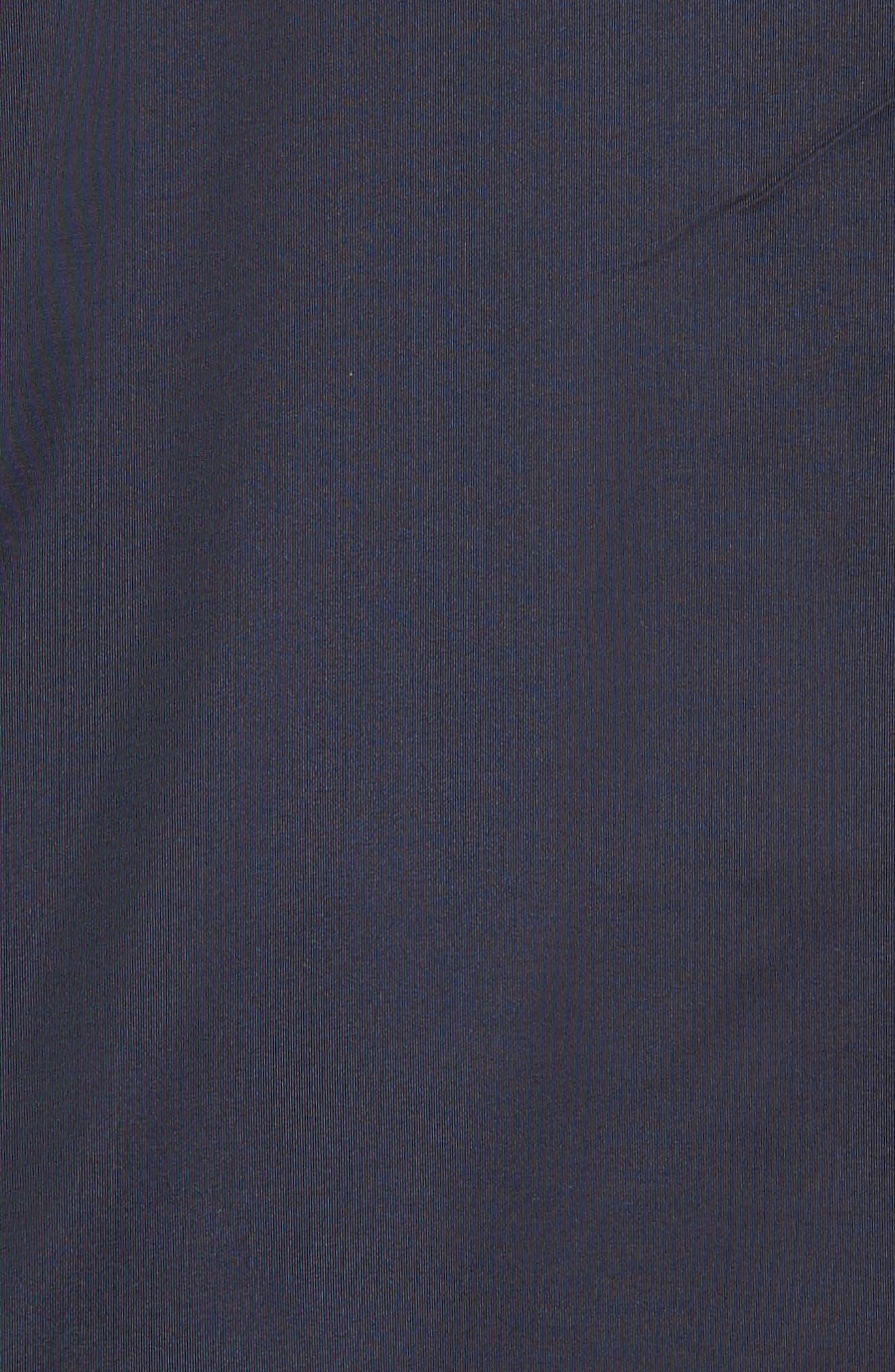 Paul&Shark Colorblock Mixed Media Zip Front Jacket,                             Alternate thumbnail 5, color,                             400