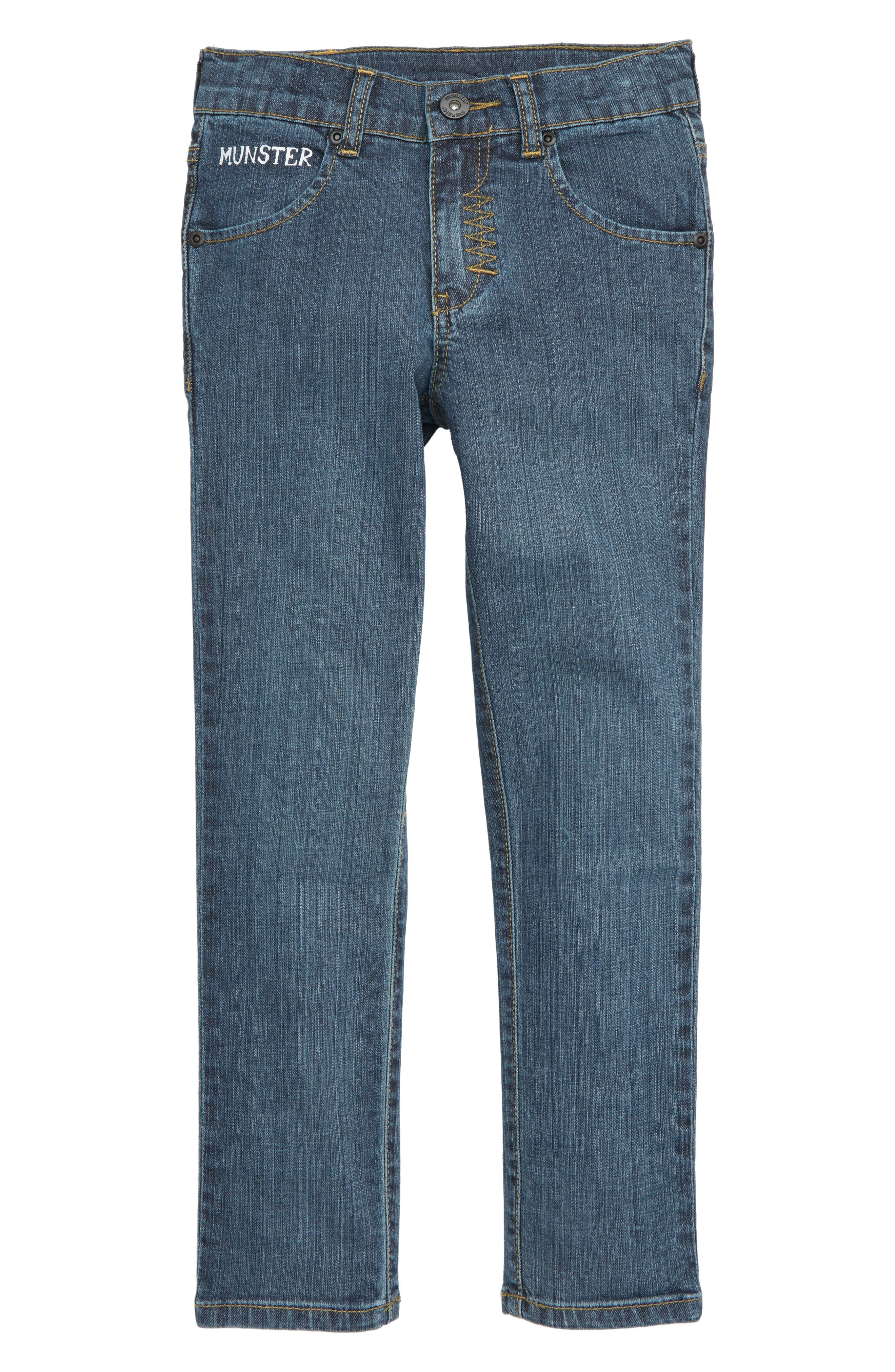 Slim Stovey Jeans,                             Main thumbnail 1, color,                             BEATEN INDIGO