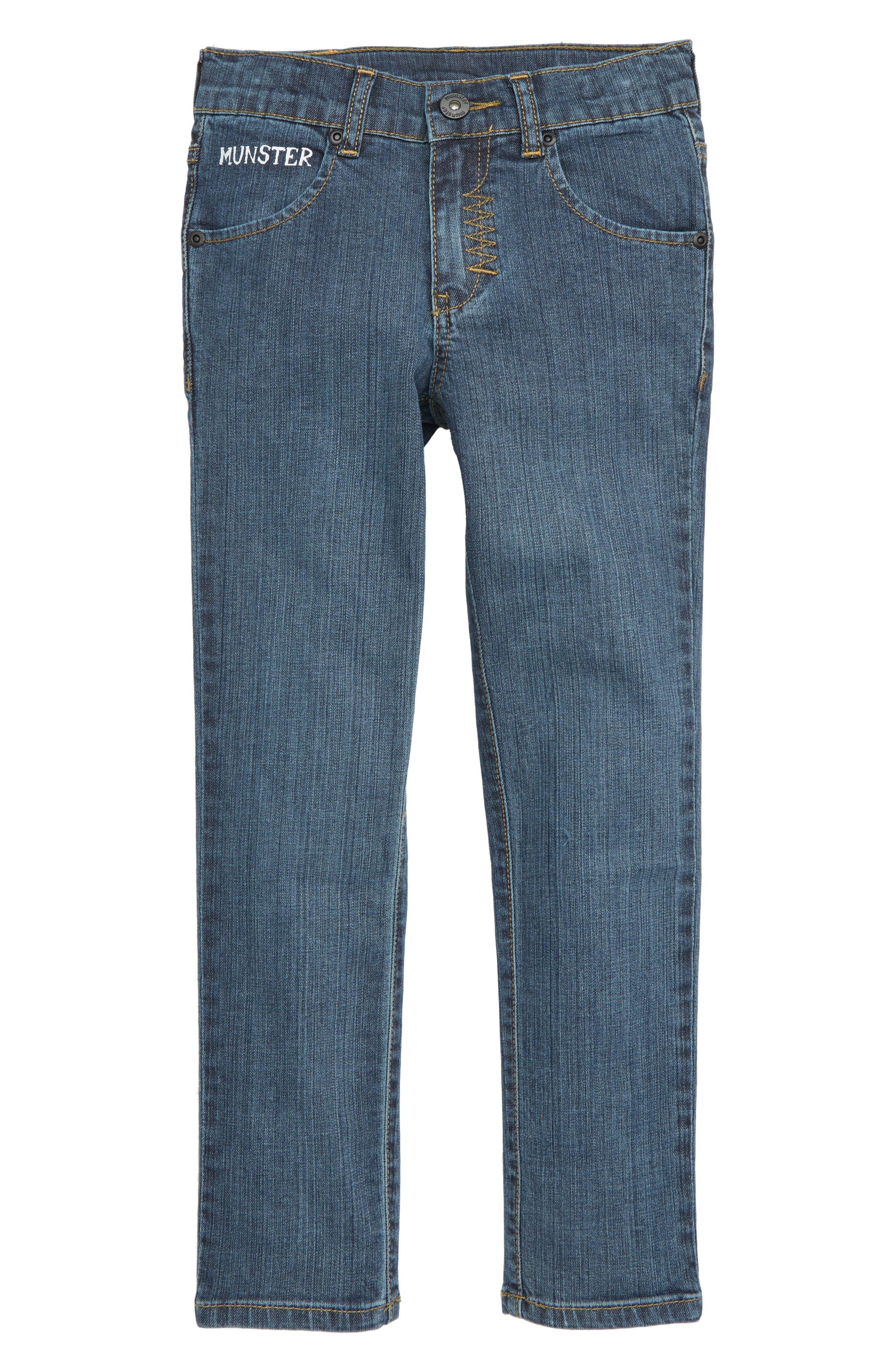 Slim Stovey Jeans,                         Main,                         color, BEATEN INDIGO