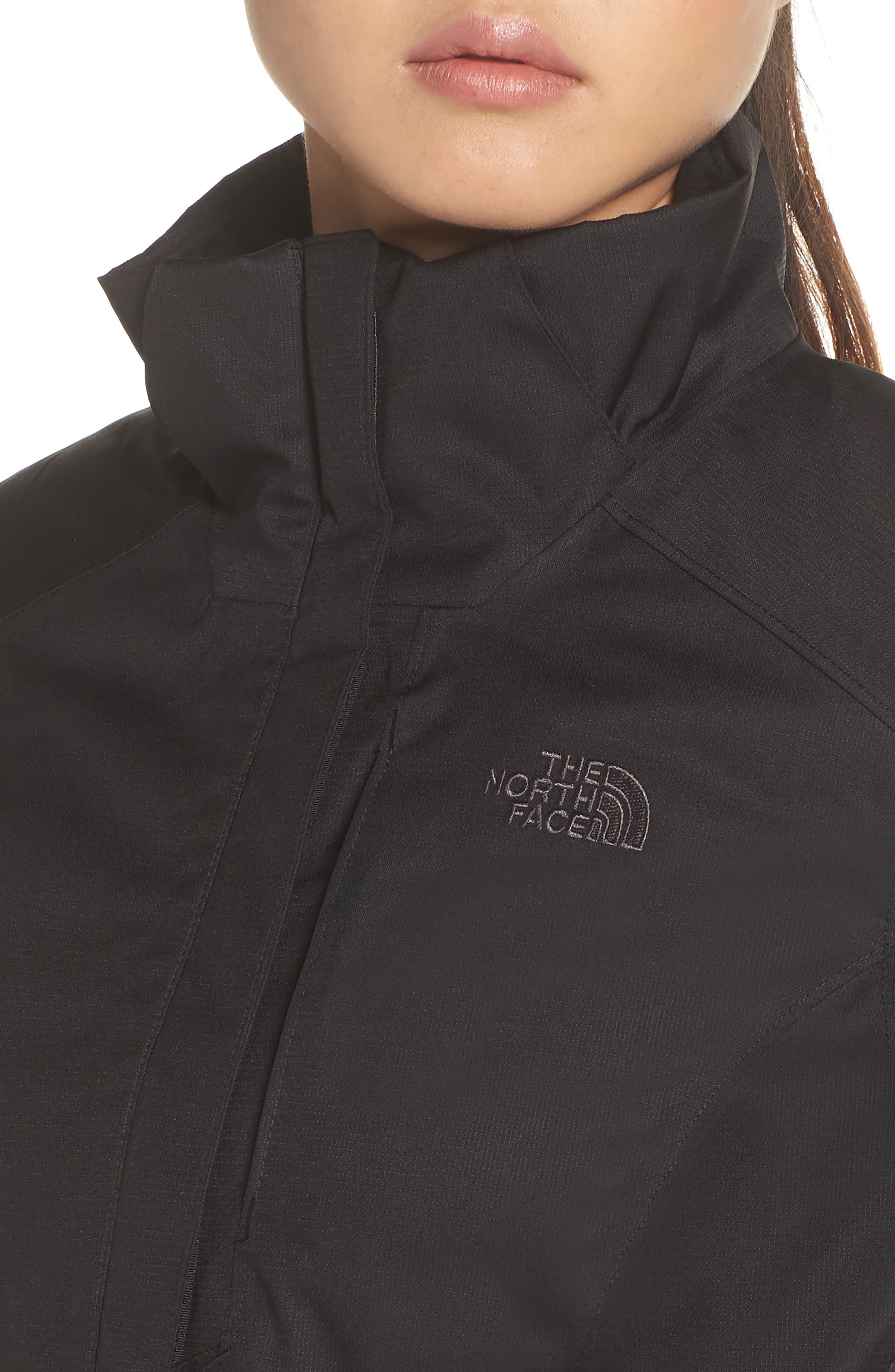 Inlux 2.0 Standard Fit Hooded DryVent Jacket,                             Alternate thumbnail 4, color,                             TNF BLACK