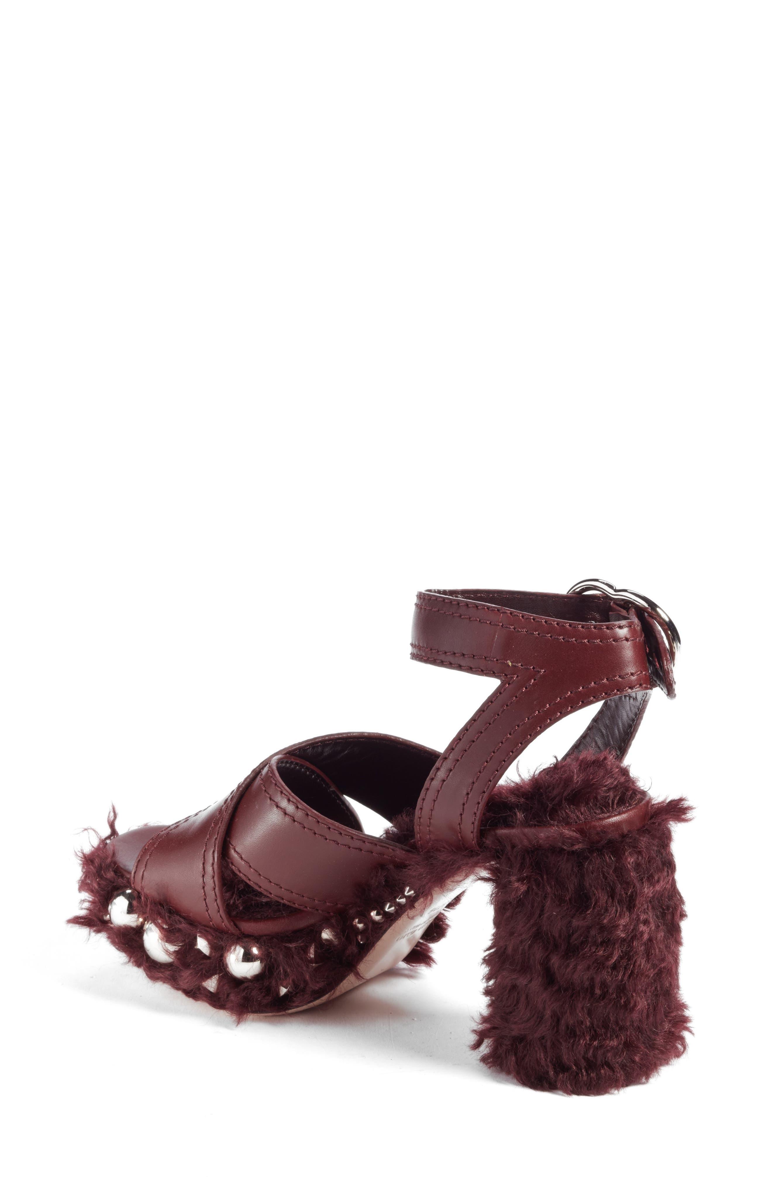 Faux Fur Platform Sandal,                             Alternate thumbnail 2, color,                             930